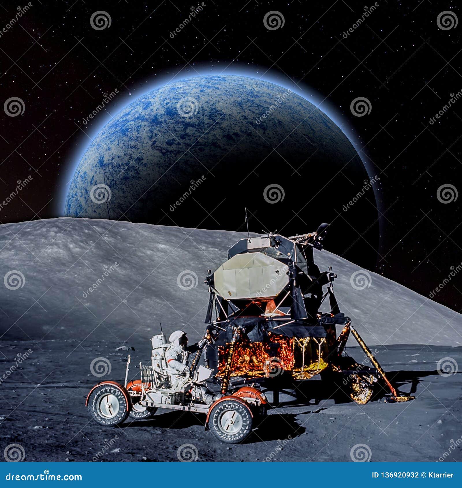 Fantasy scene of an Astronaut on an alien planet