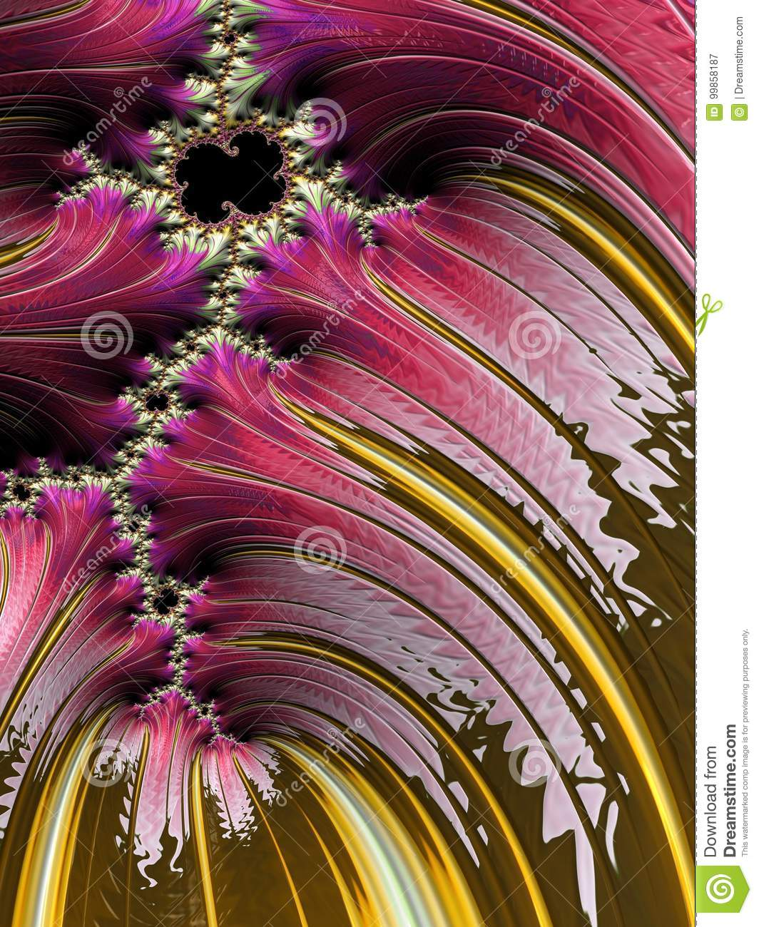 cotton candy stock illustration illustration of fractals 99858187