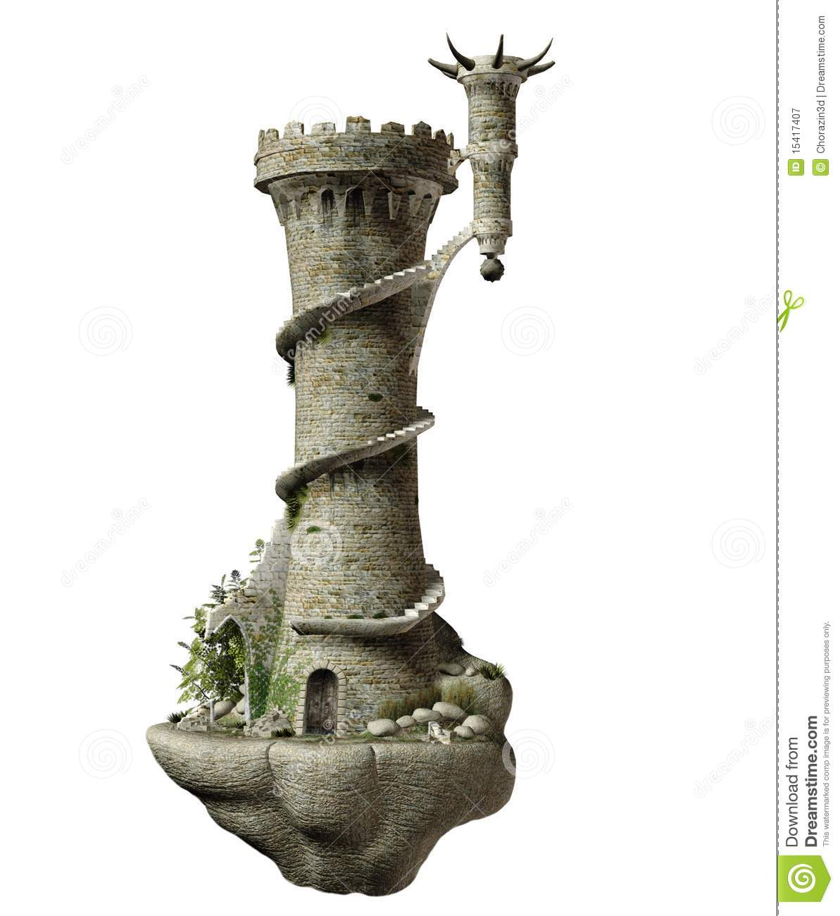 Fantasy Tower Stock Illustration Illustration Of Isolated