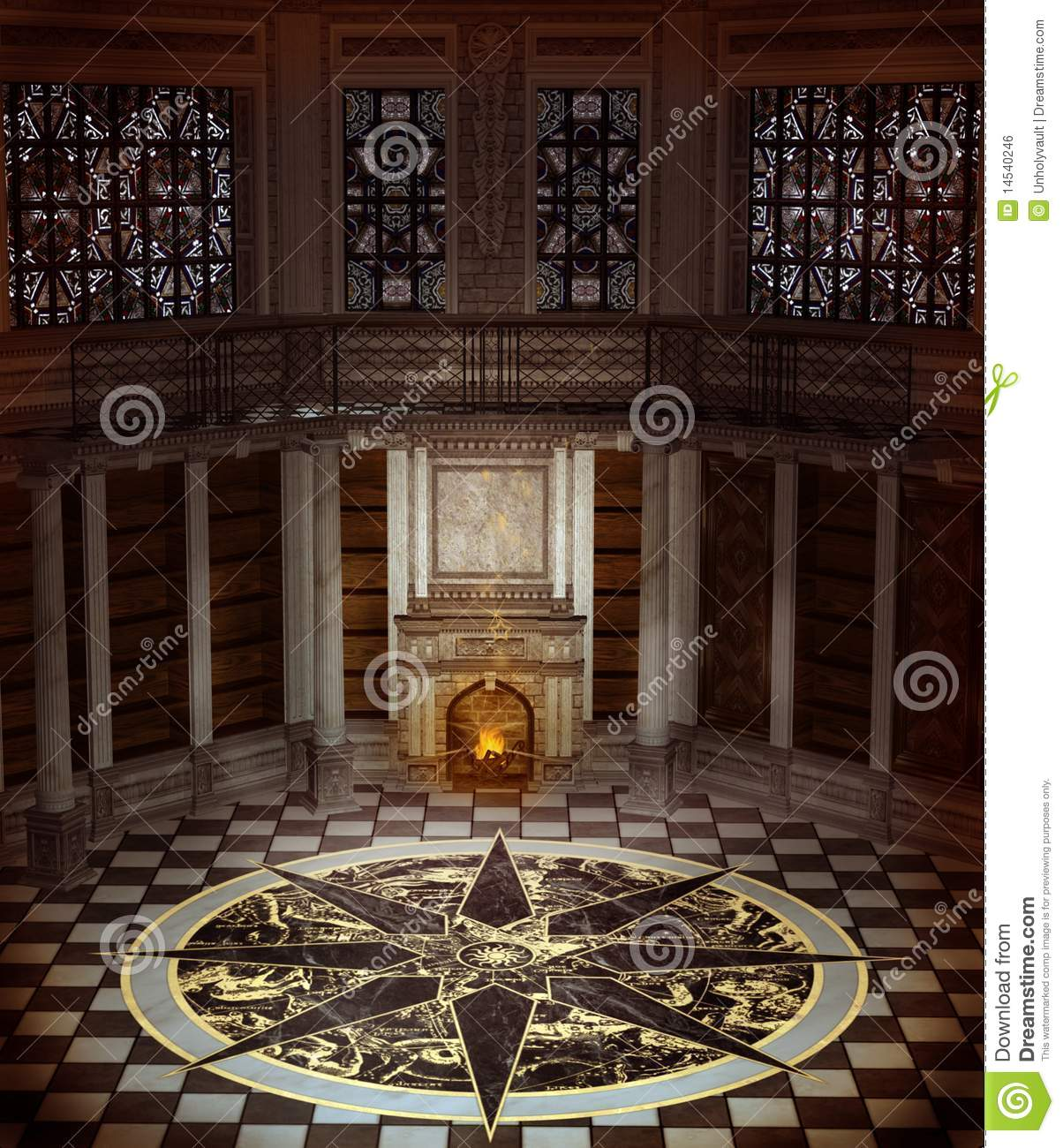 Fantasy Tower Interior Stock Illustration Image Of