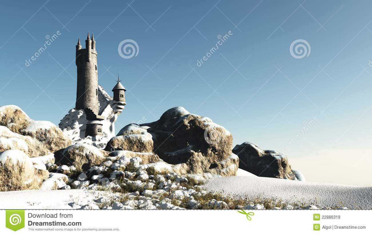 Fantasy Tower in the Snow