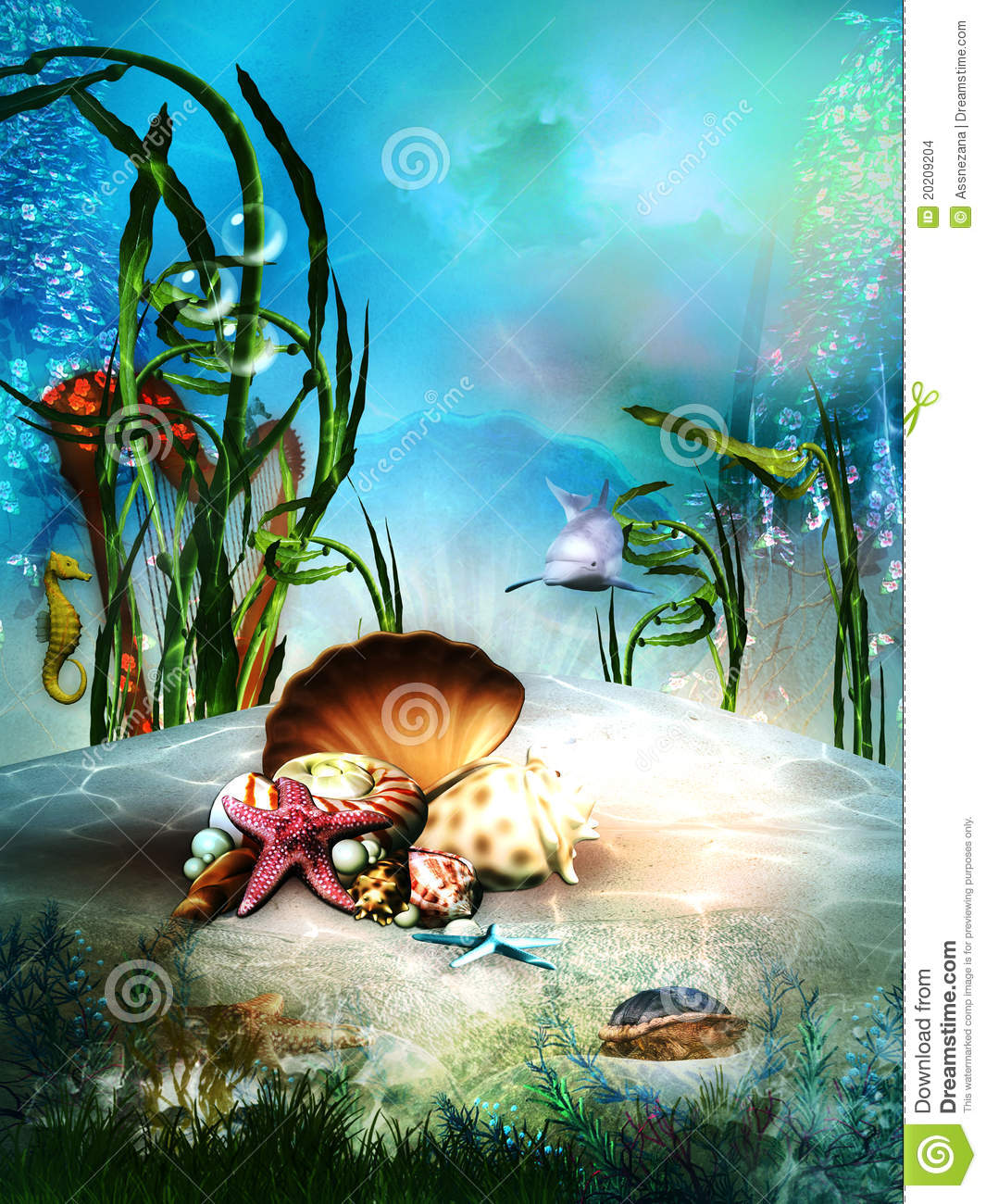 More similar stock images of ` Fantasy underwater sea life `