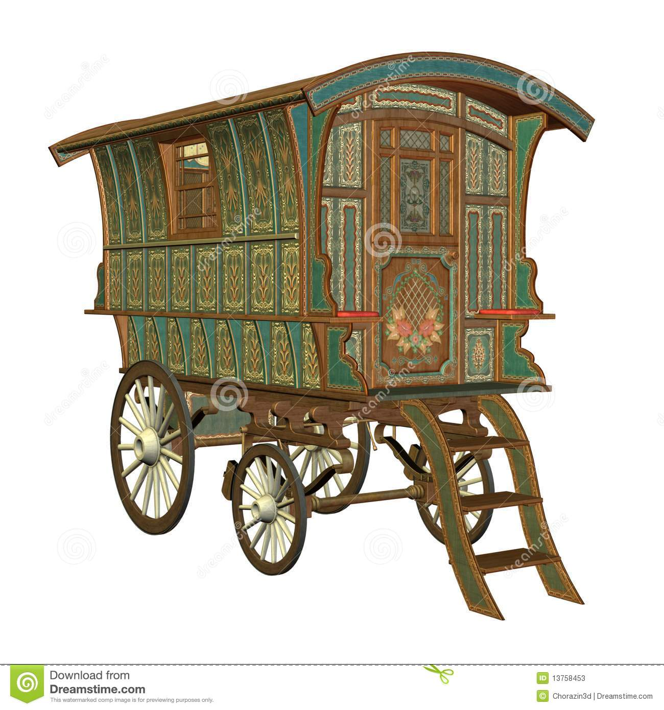 Fantasy Wagon Stock Photos