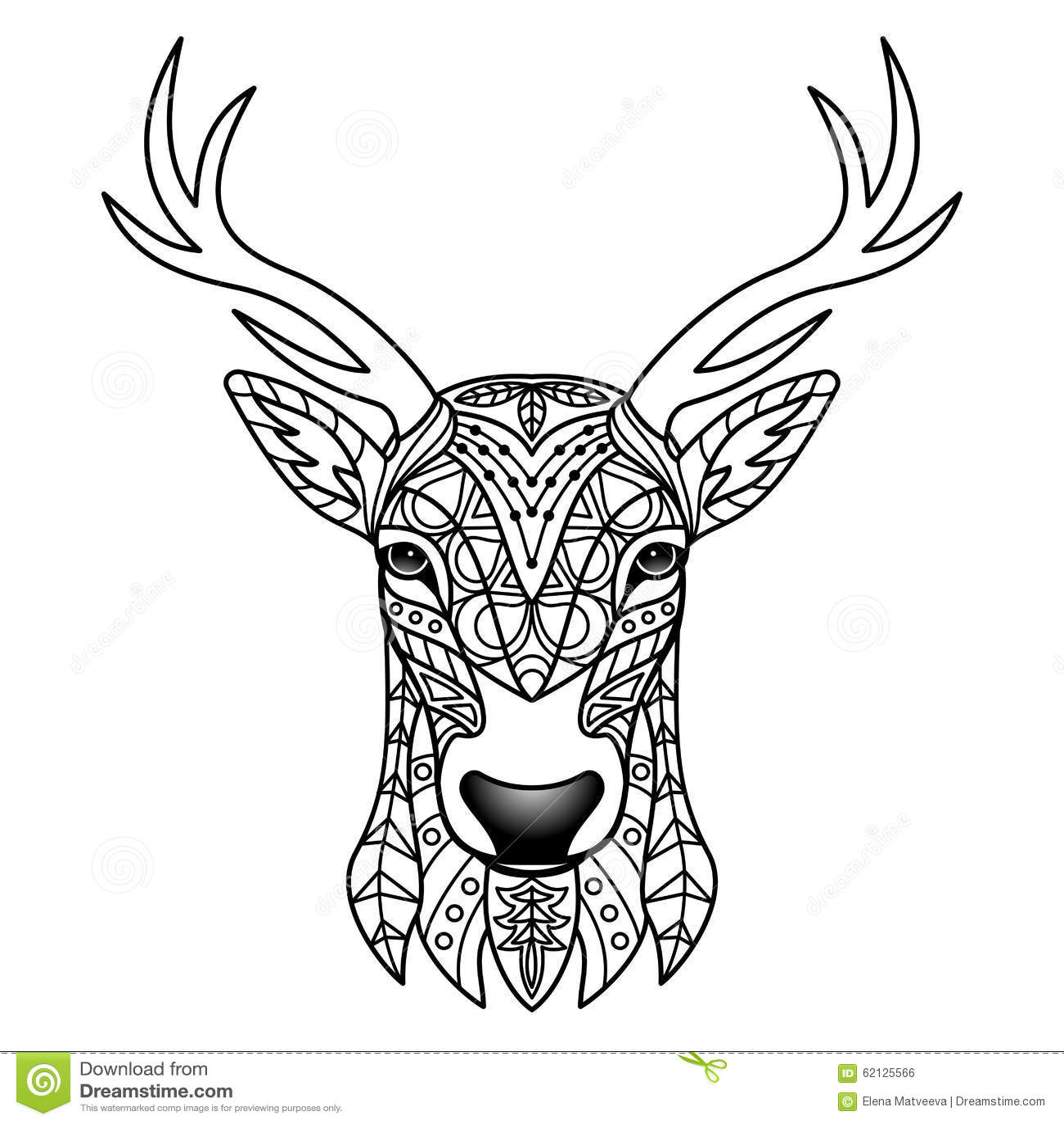 fantasy white deer stock vector illustration of deer 62125566. Black Bedroom Furniture Sets. Home Design Ideas