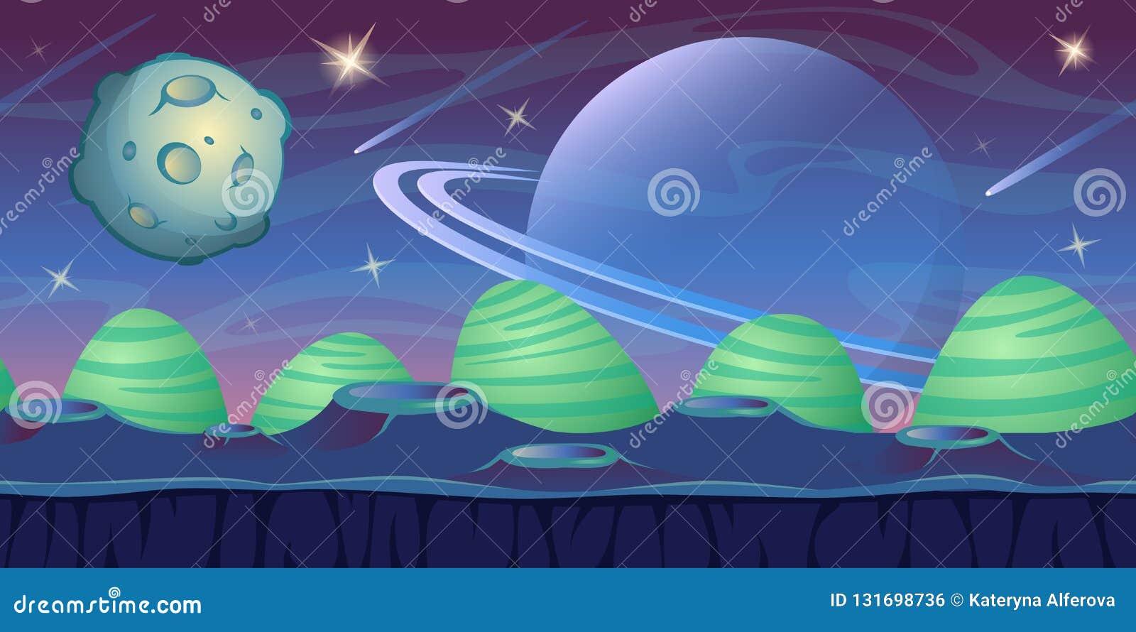 Fantazi astronautyczny tło dla UI gry
