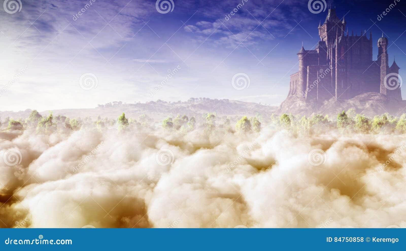 Fantazja kasztel W chmurach