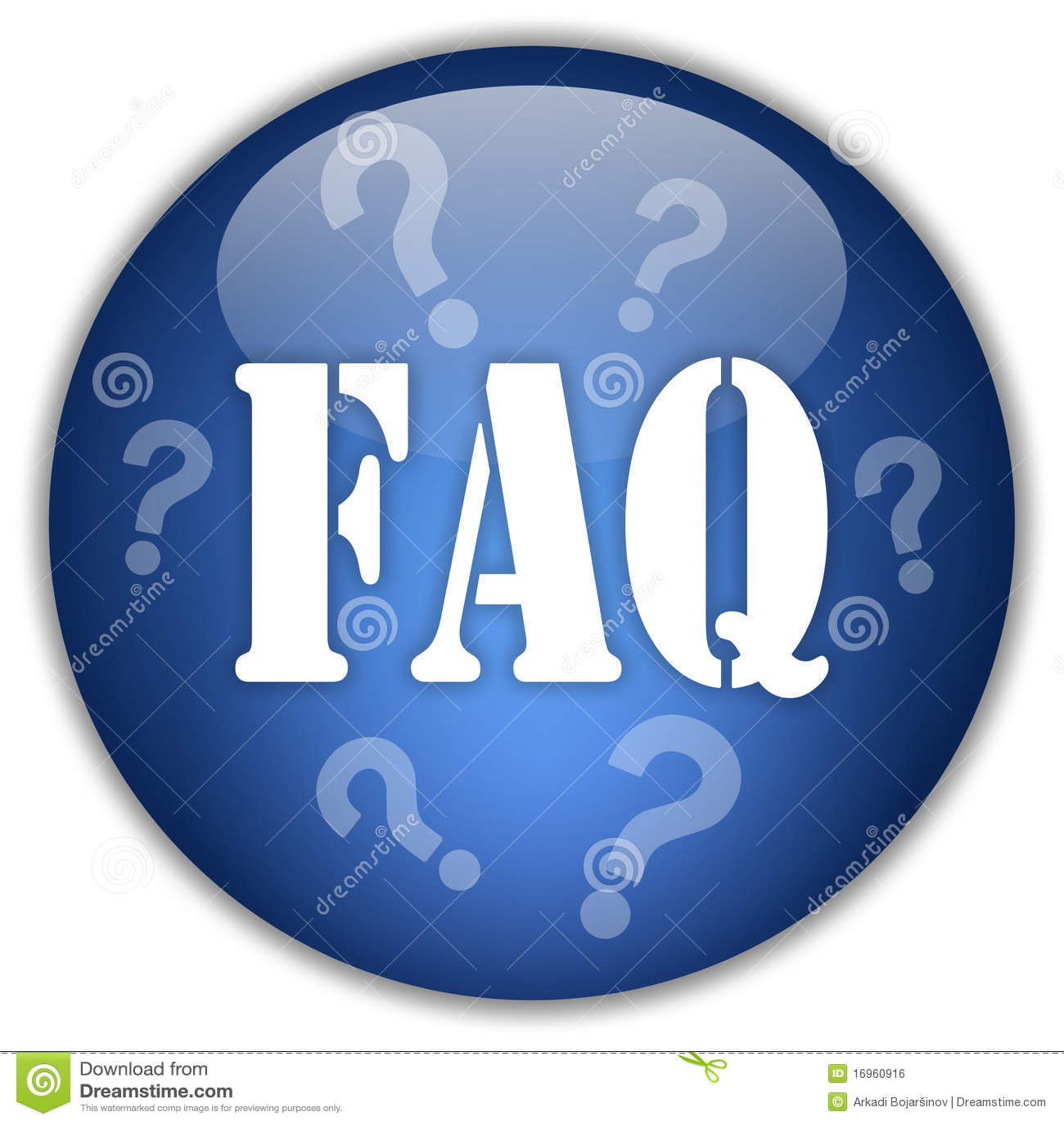 Faq: Faq Button Royalty Free Stock Image