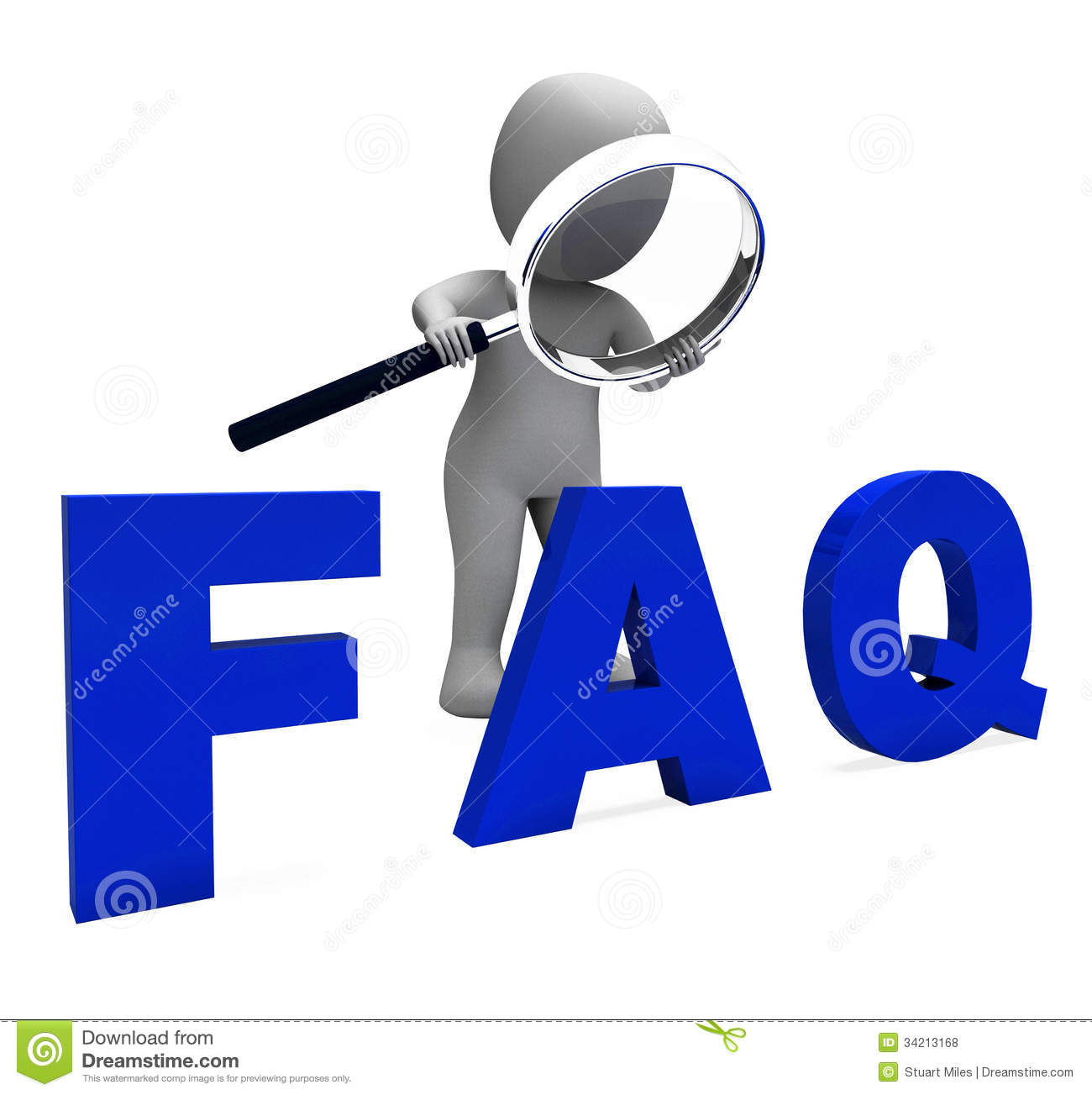 Faq: Faq 3d Character Shows Assistance Inquiries Or Frequently
