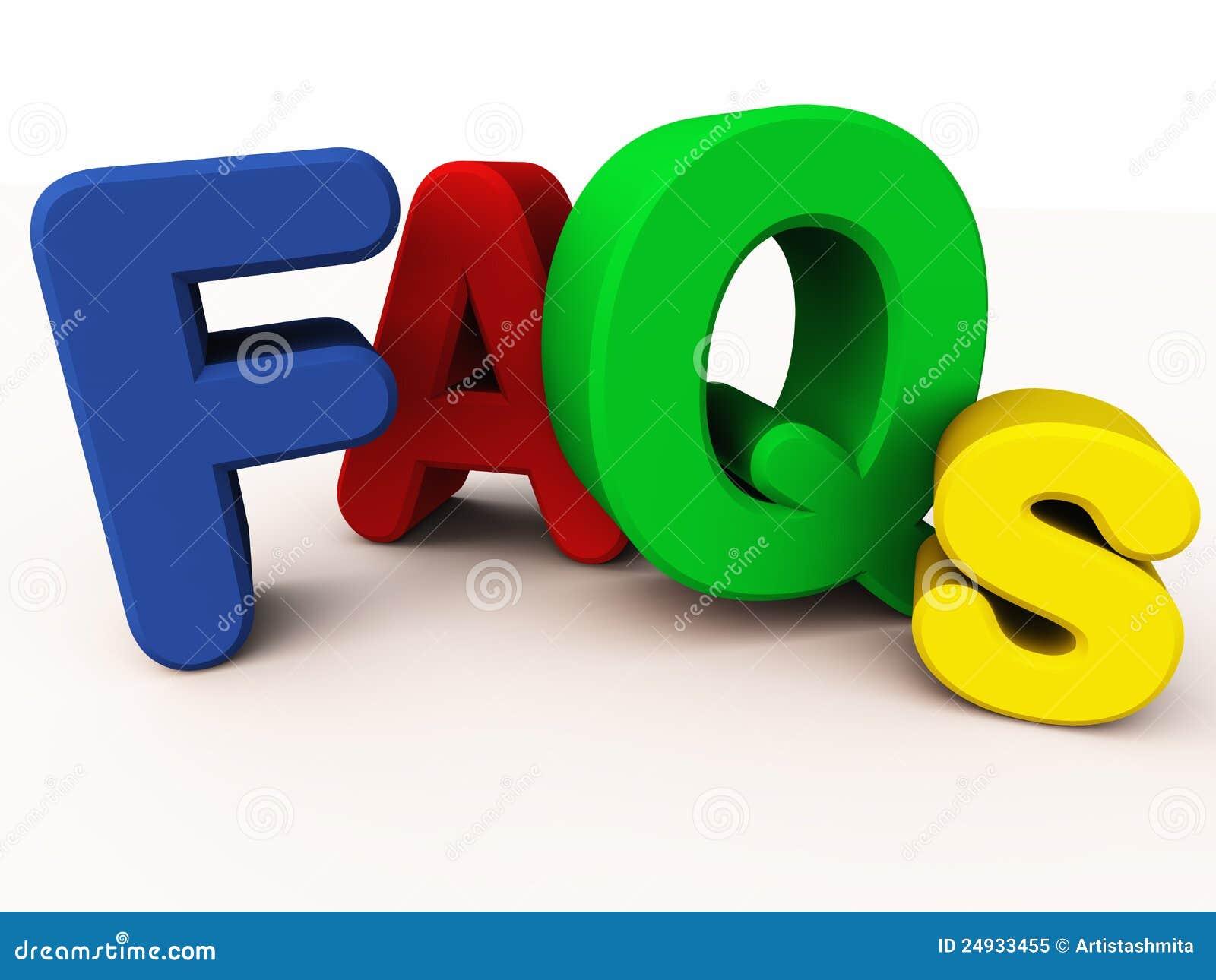 FAQ o preguntas con frecuencia hechas