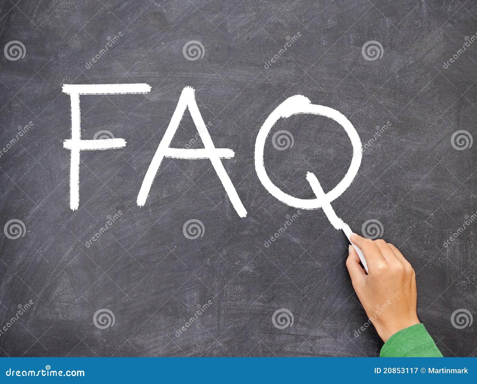 FAQ, pizarra de la pregunta