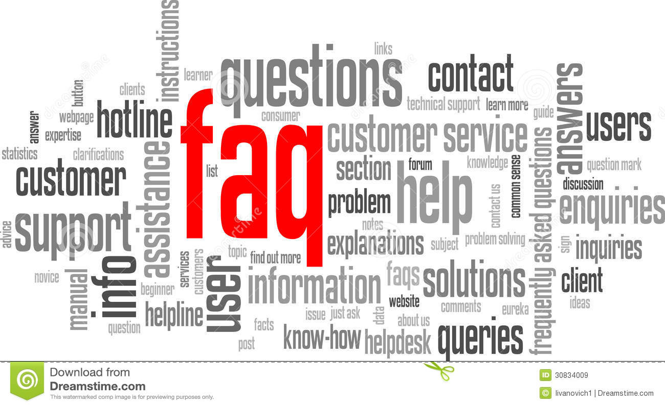 FAQ Tag Cloud (information support customer service hotline button)