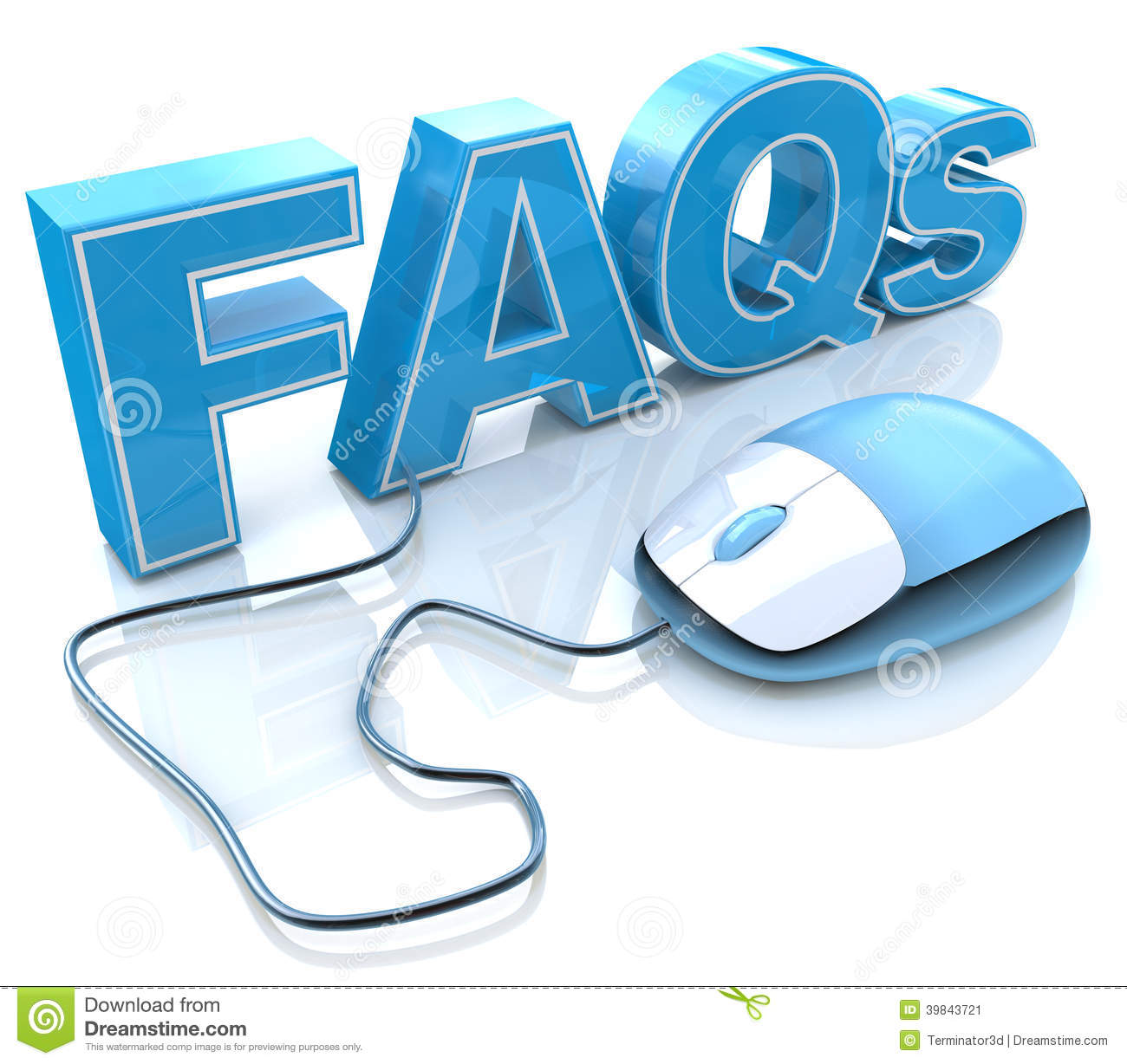 FAQs 3D Text With Computer Mouse Stock Illustration ...