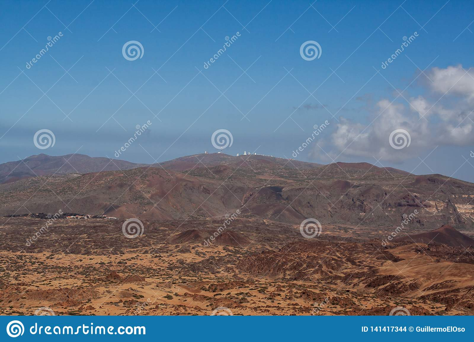 Far view from the mountain by tenerife