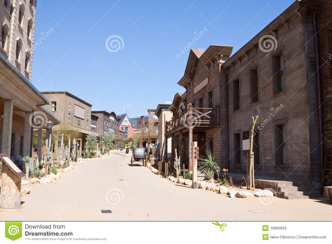 Download Far west town stock image. Image of country, america - 19660633