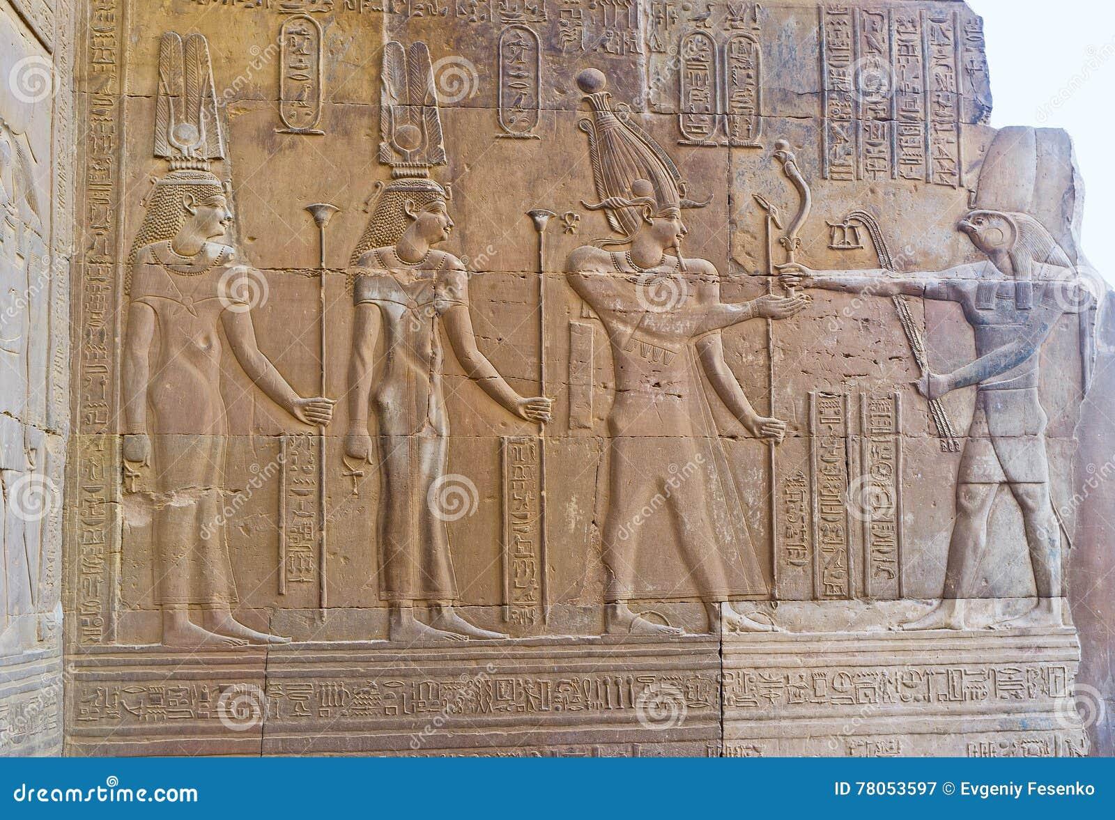 Farao och guden Horus