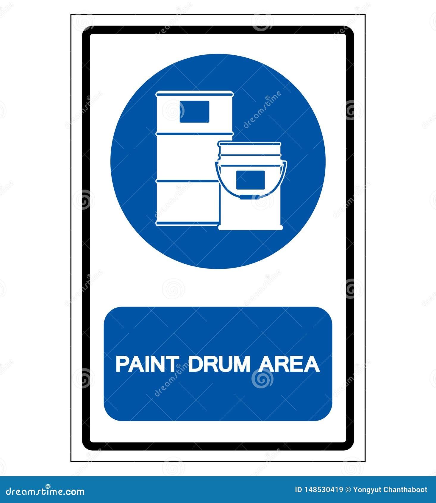 Farba bębenu terenu symbolu znak, Wektorowa ilustracja, Odizolowywająca Na Białej tło etykietce EPS10