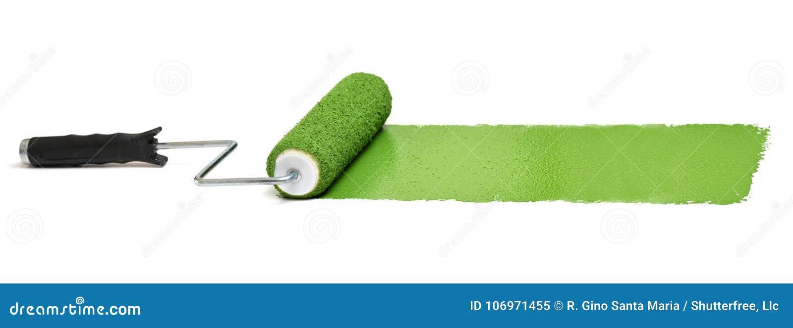 Farba zielony rolownik