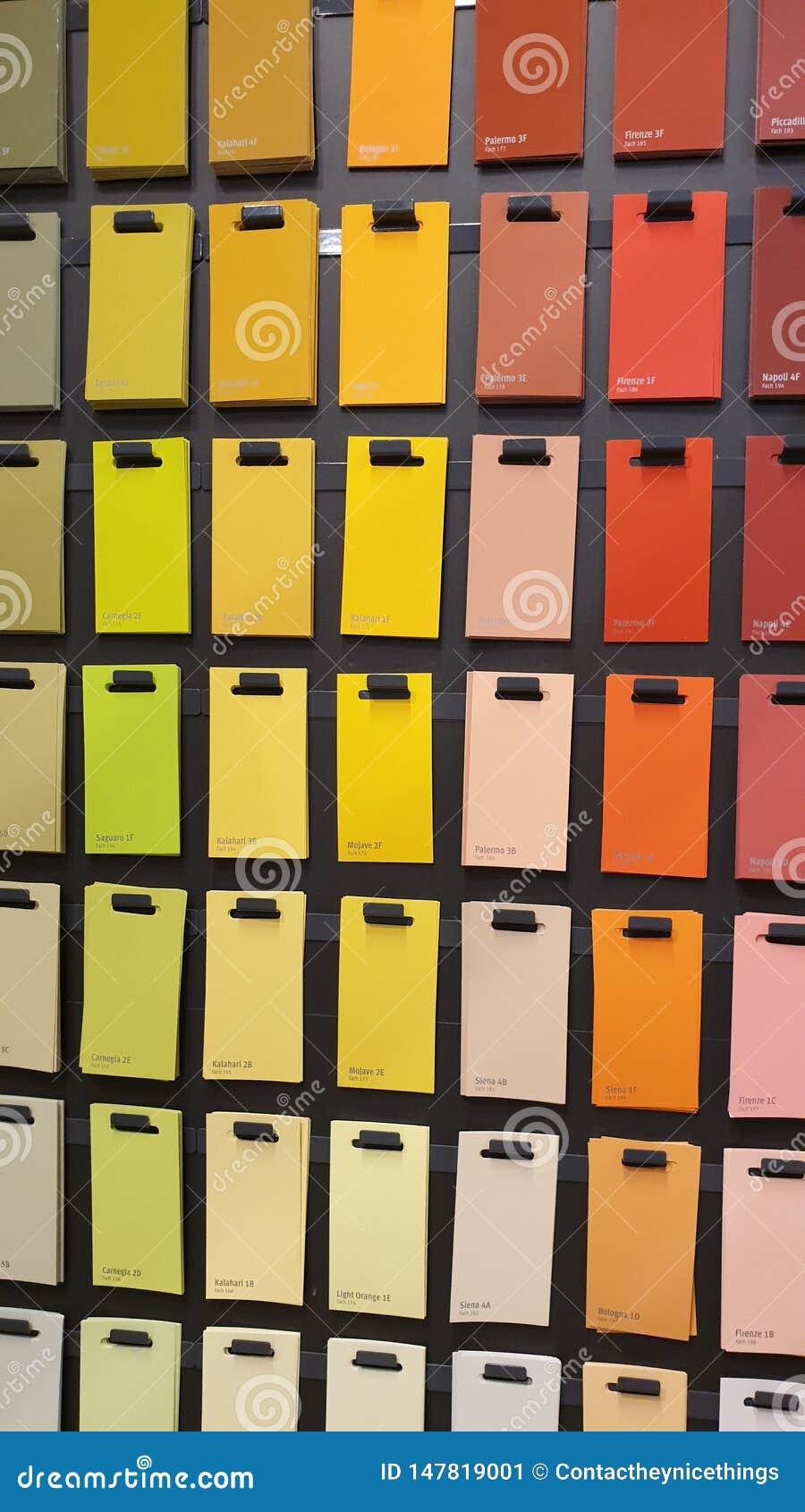 Farbbeispielpapierkarten