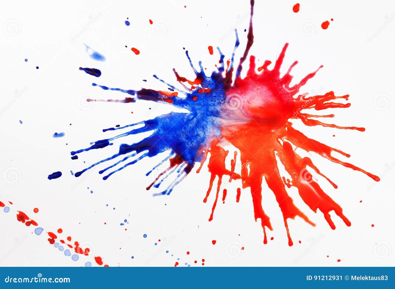 Farbe auf einem Blatt Papier