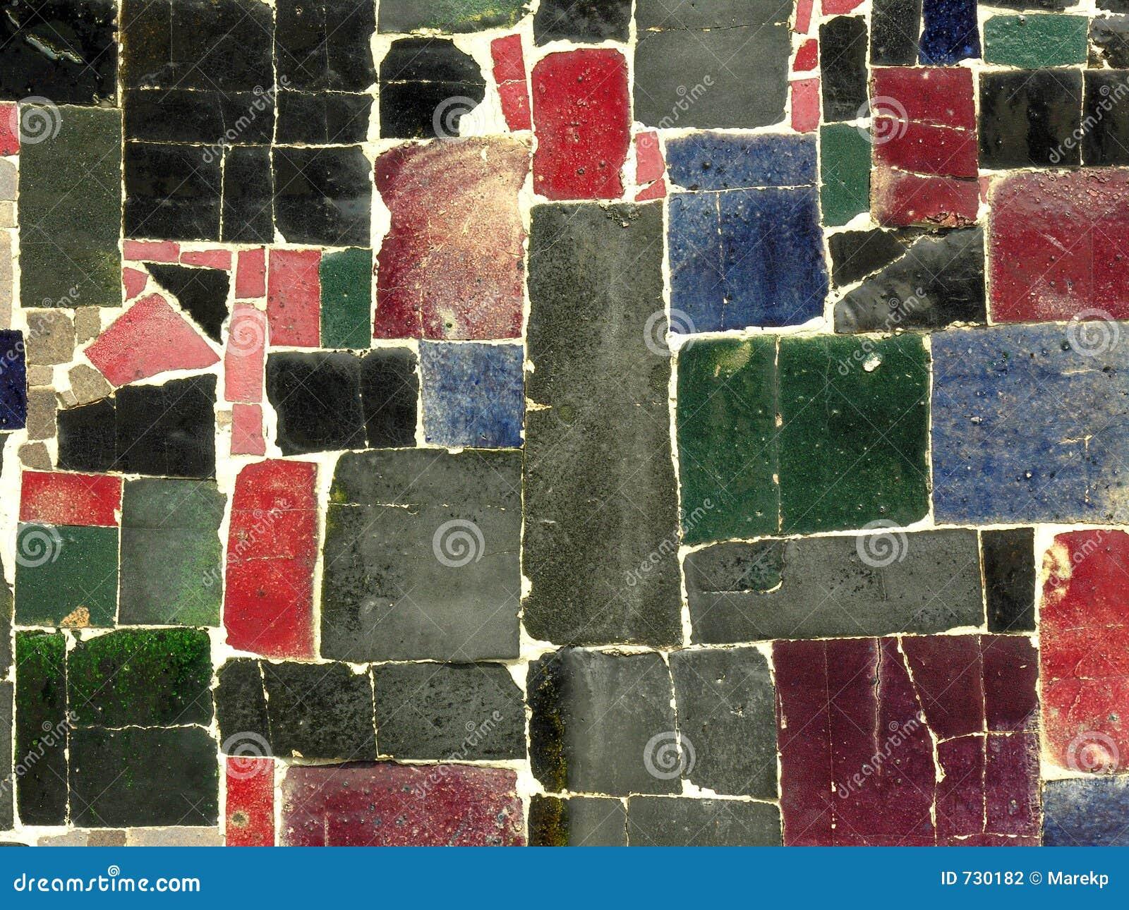 farbe deckt mosaik gelegentliches muster mit ziegeln stockfotografie bild 730182. Black Bedroom Furniture Sets. Home Design Ideas