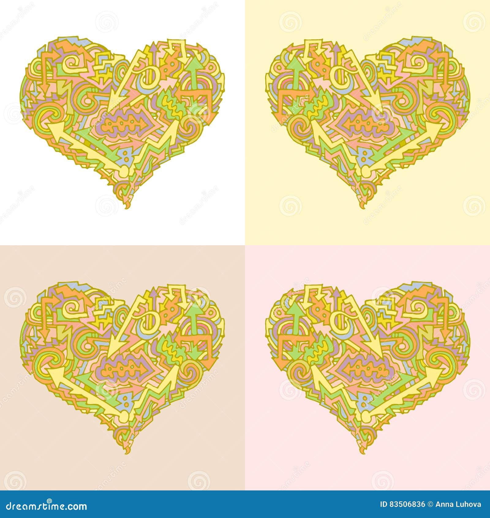 Farbe der Valentinsgrußpfeil-Richtung wave1