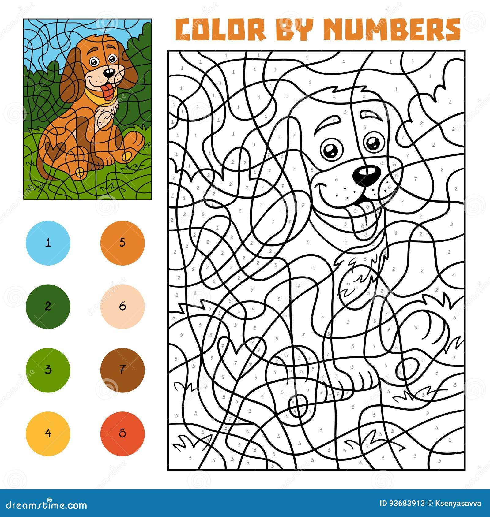 Wunderbar Farbe Durch Zahlen Einer Tabelle Für Den Kindergarten ...