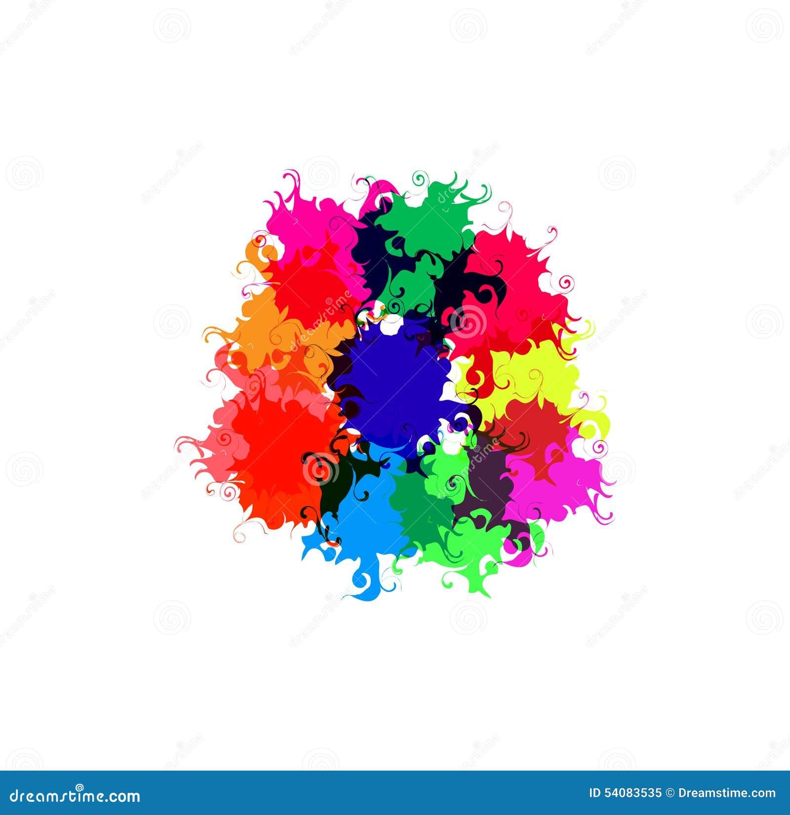 Farbe gezeichnete Flecken