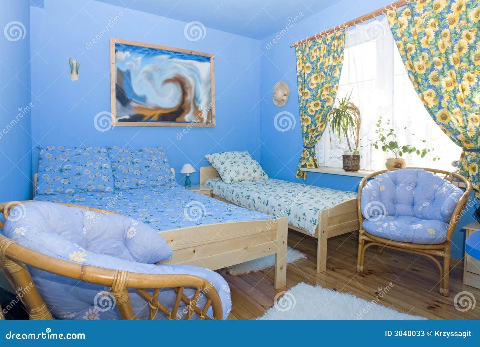 Farbe koordiniertes blaues schlafzimmer stockfotos bild 3040033 - Blaues schlafzimmer ...