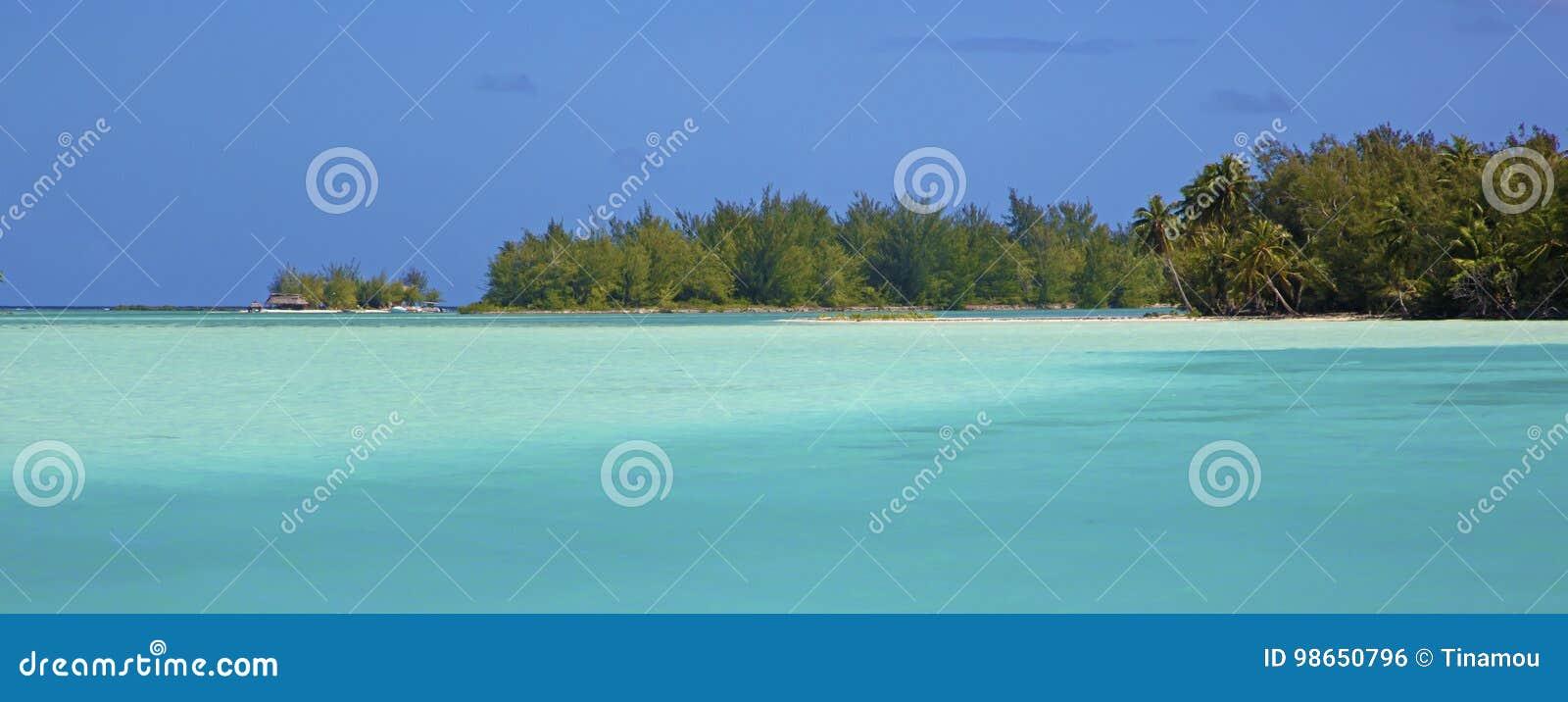 Farben Von Bora Bora Lagune Franzosisch Polynesien Stockfoto Bild