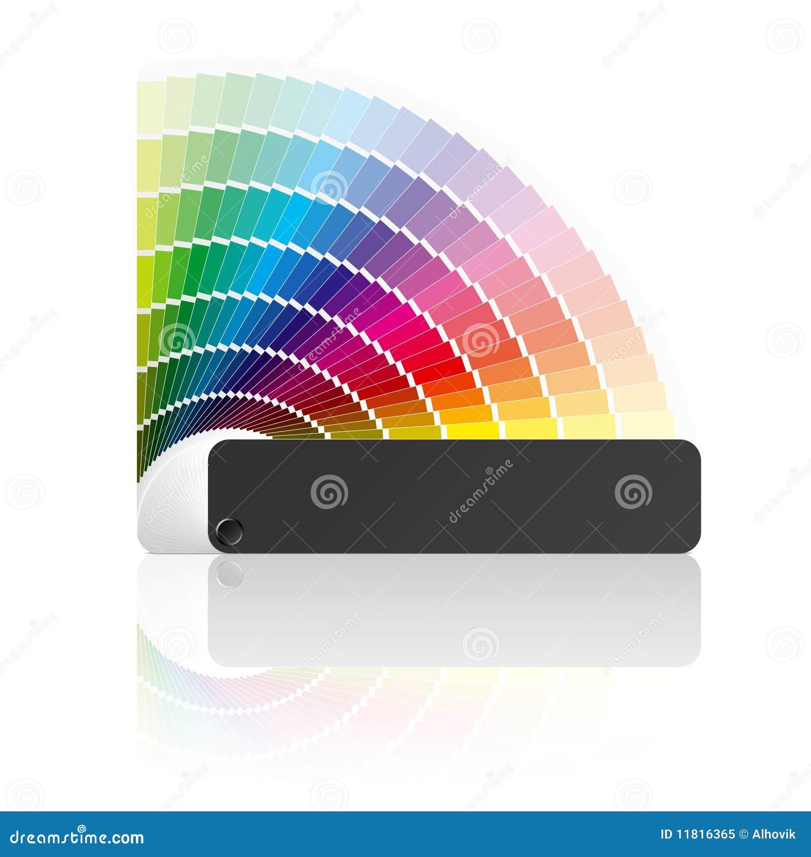 Farbenanleitung. Vektor.