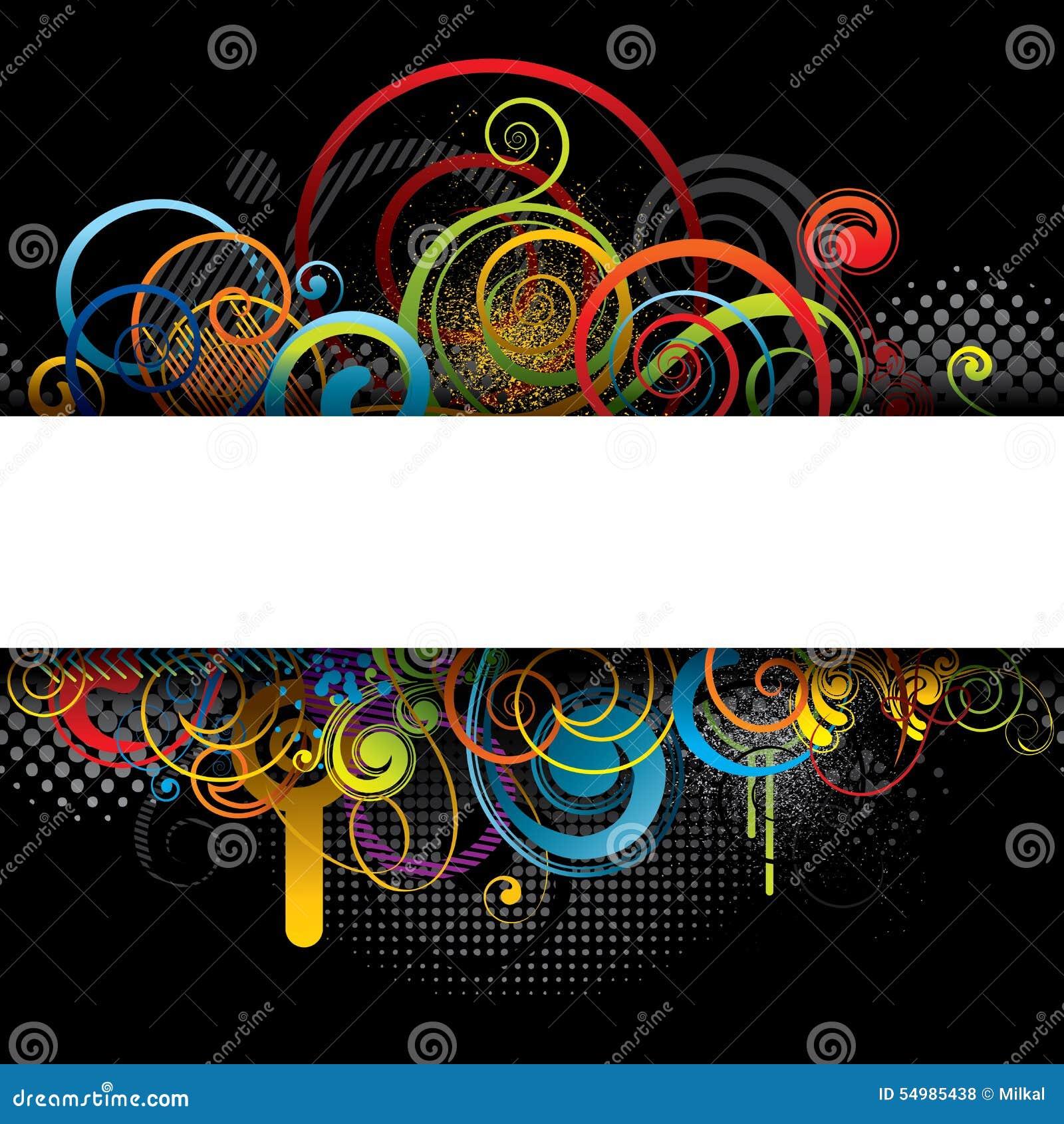Farbfahnen-Hintergrunddesign