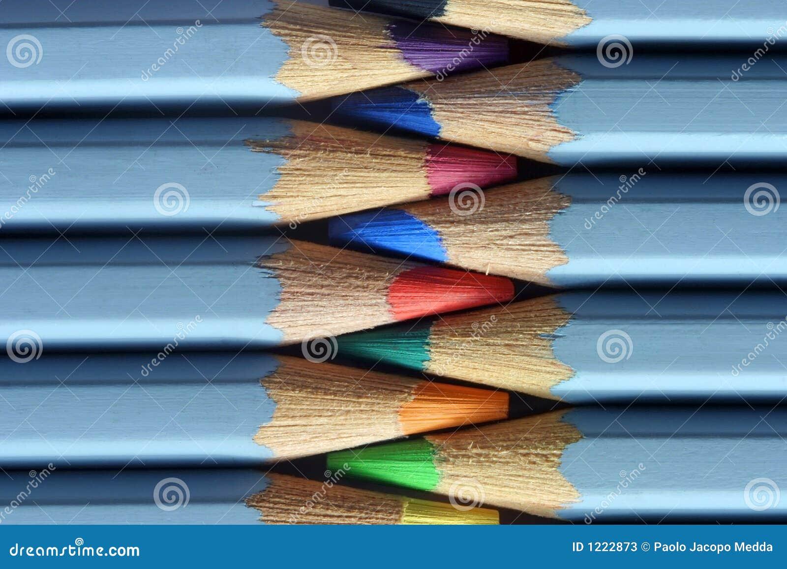 Farbige Bleistifte Makro