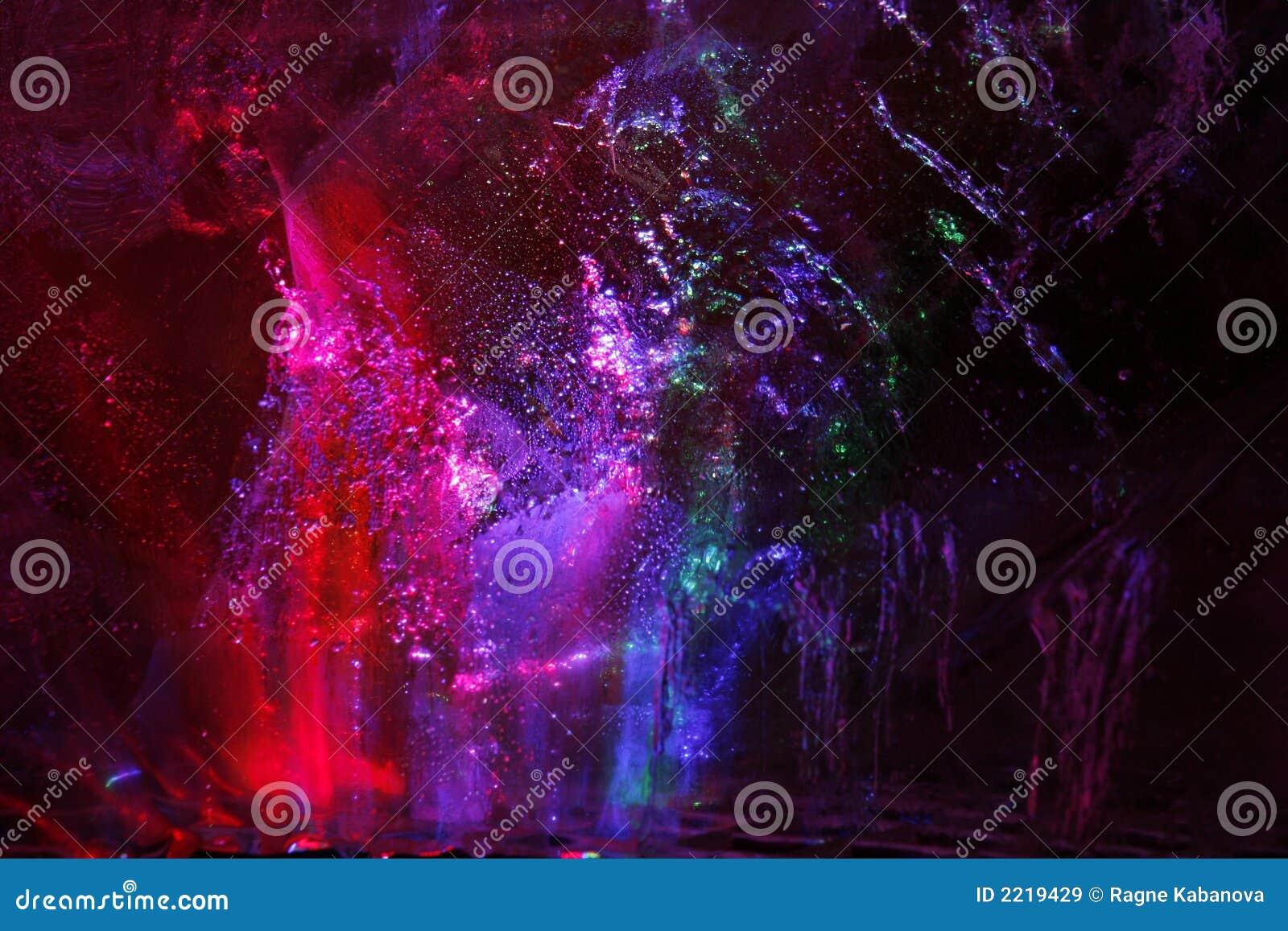 Farbige eisige Oberfläche