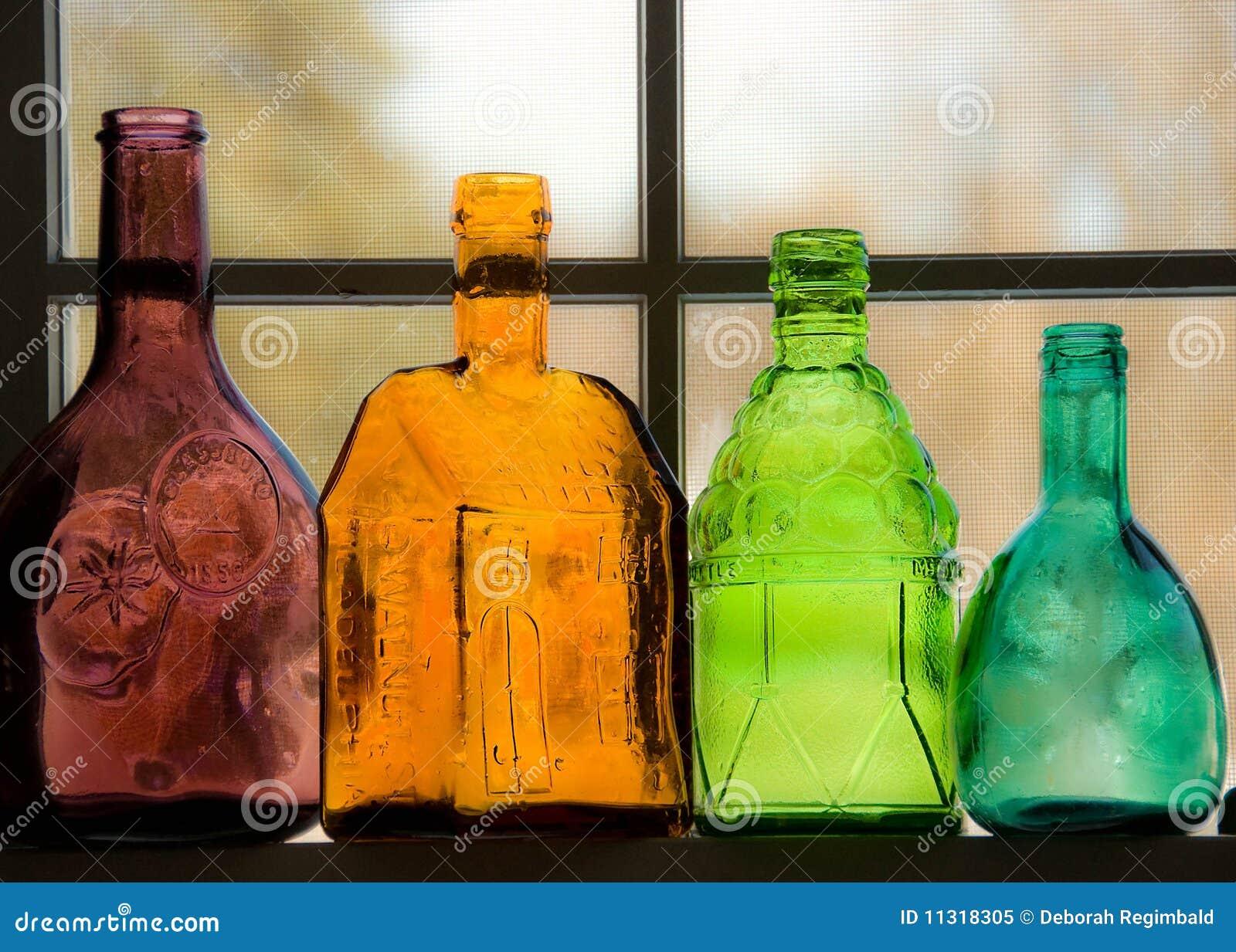 Farbige Flaschen
