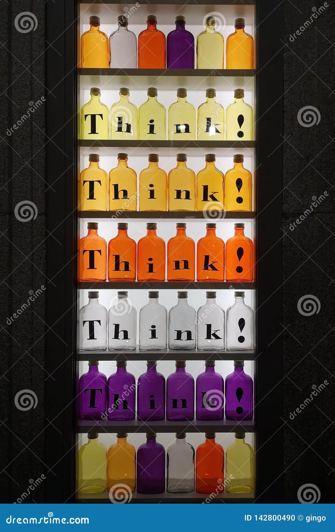Farbige Glasflaschen
