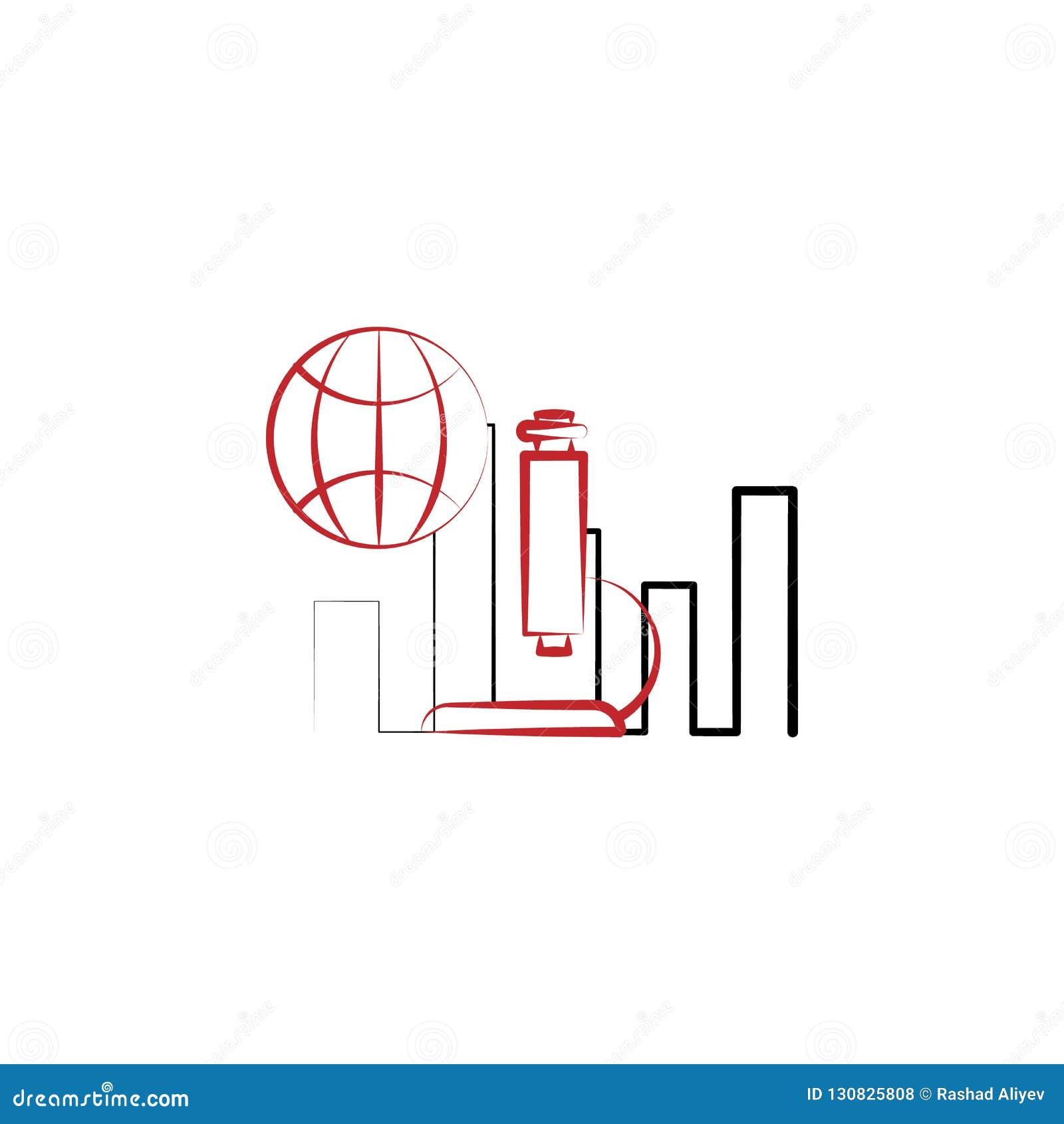 Farbige Linie Ikone der Wissenschaftsforschung 2 Einfache Illustration des farbigen Elements Wissenschaftsforschungsentwurfs-Symb