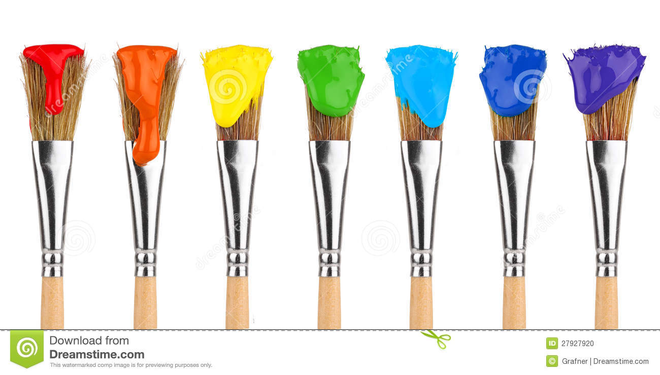 Cartoon Pictures Of Paint Brushes