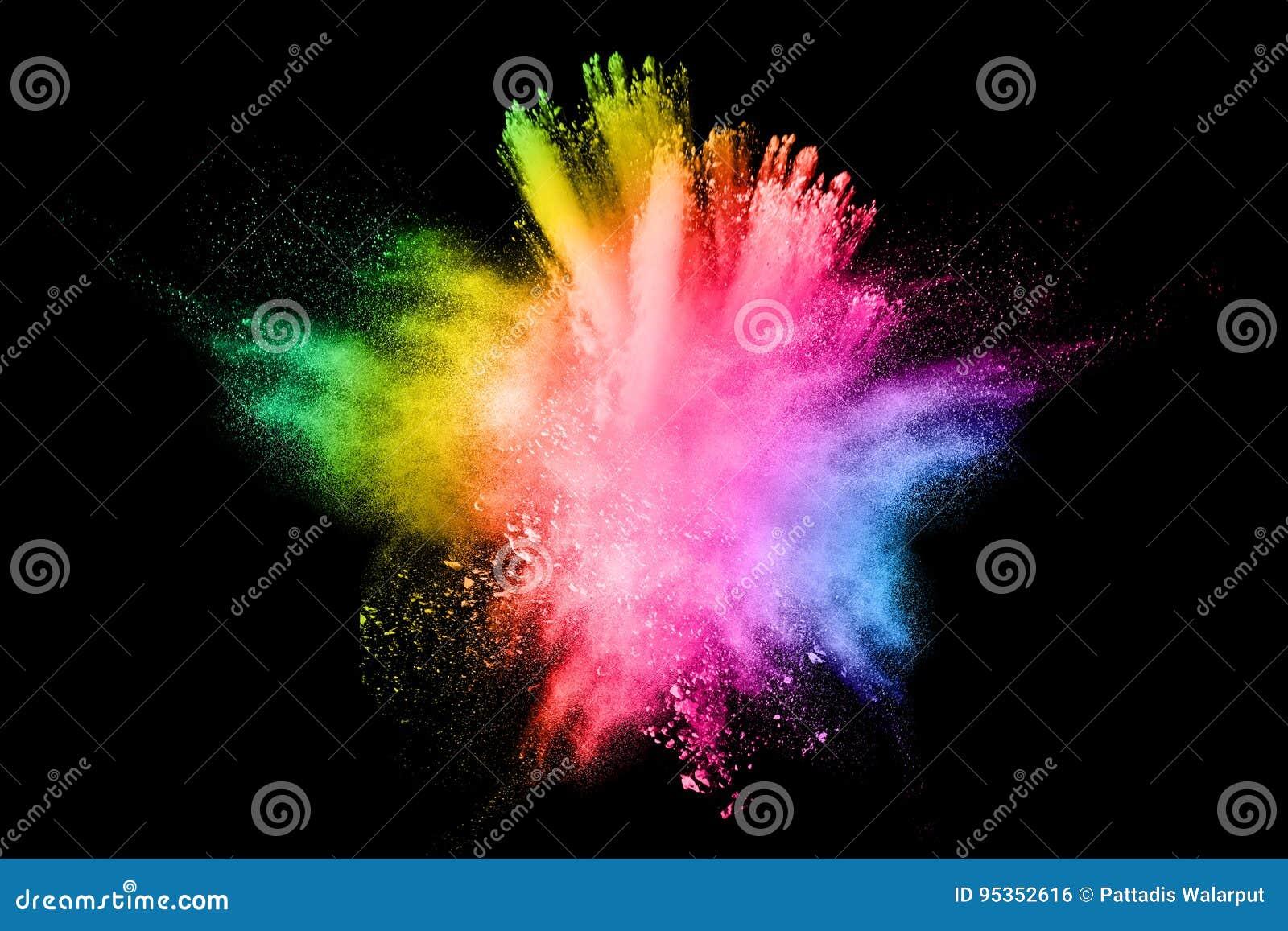 Farbige Pulverexplosion
