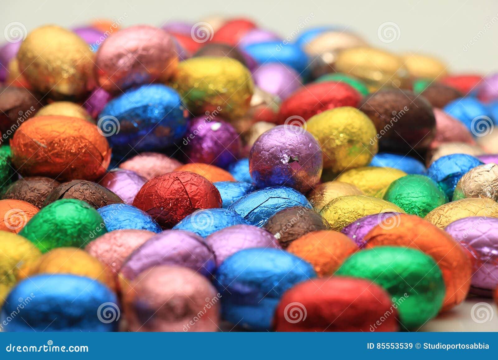 Farbige SchokoladenOstereier