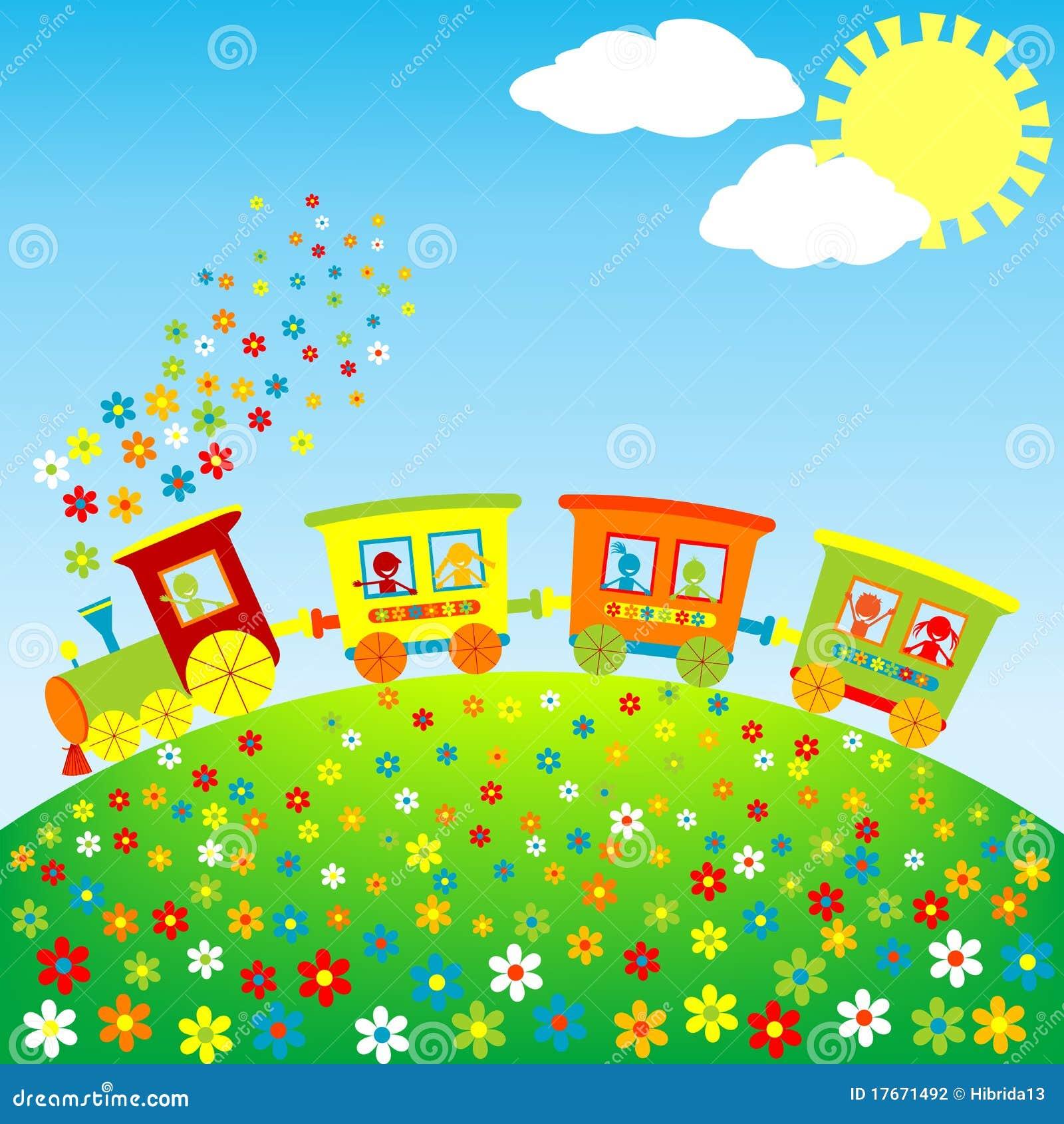Farbige Spielzeugserie mit glücklichen Kindern