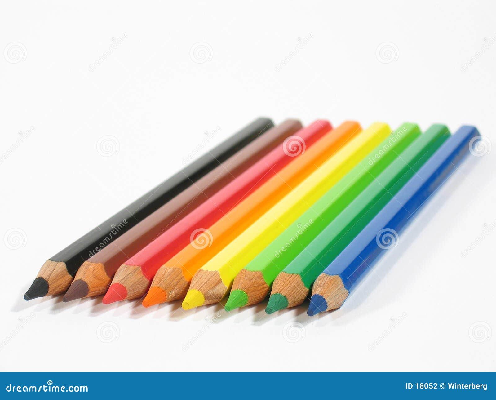 Farbige Zeichenstifte II