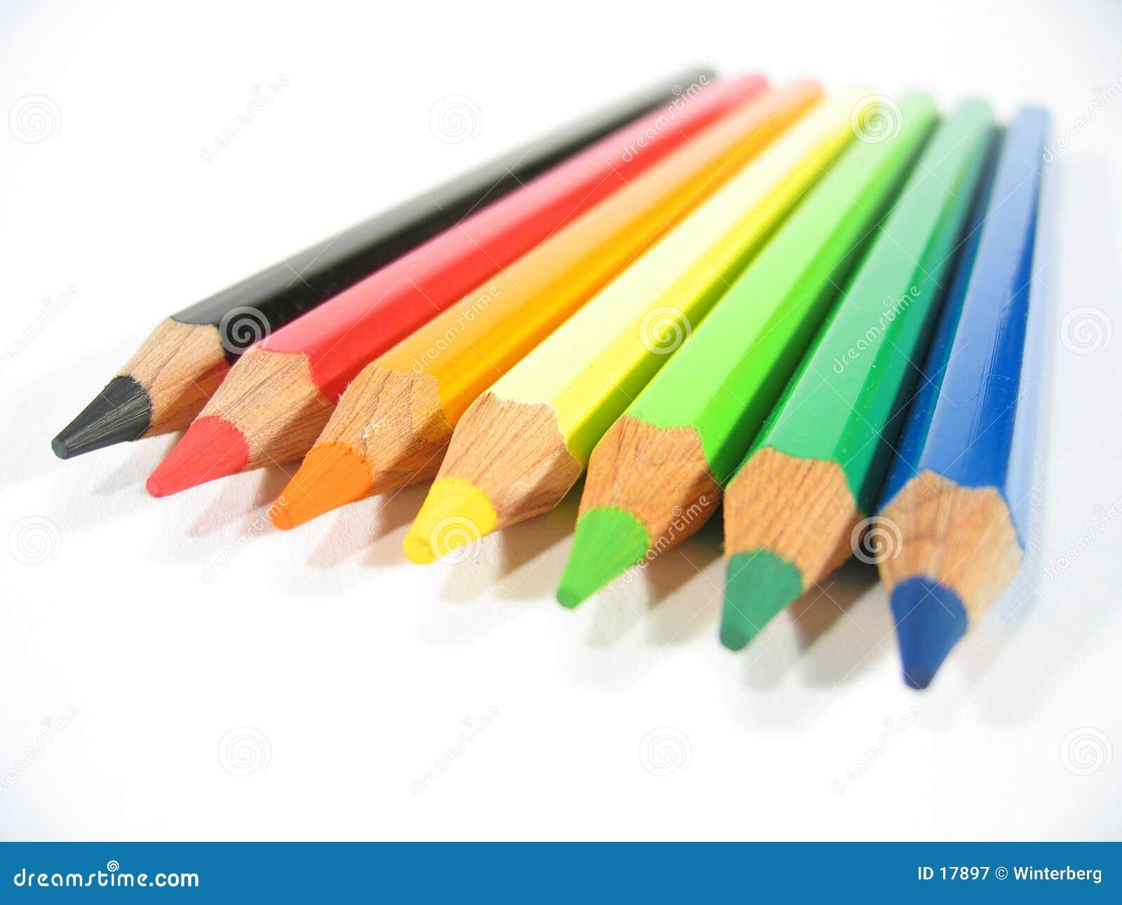 Farbige Zeichenstifte VI