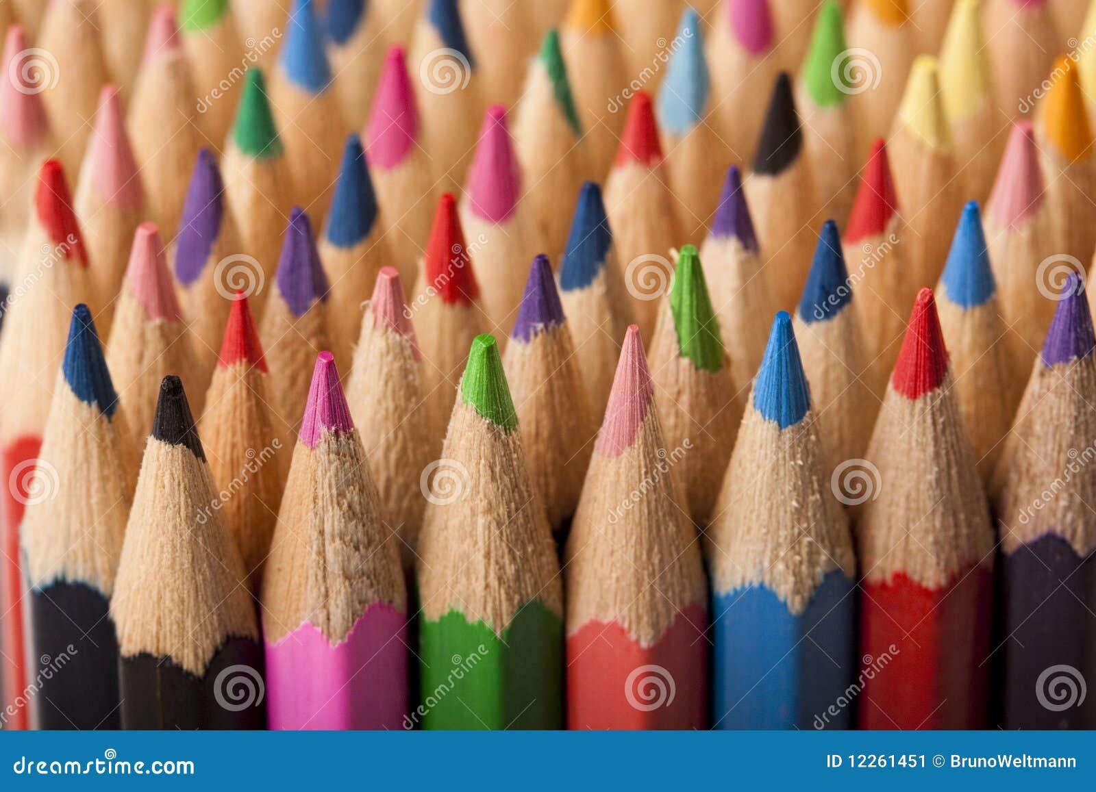 Farbiger Bleistift-Auszug!