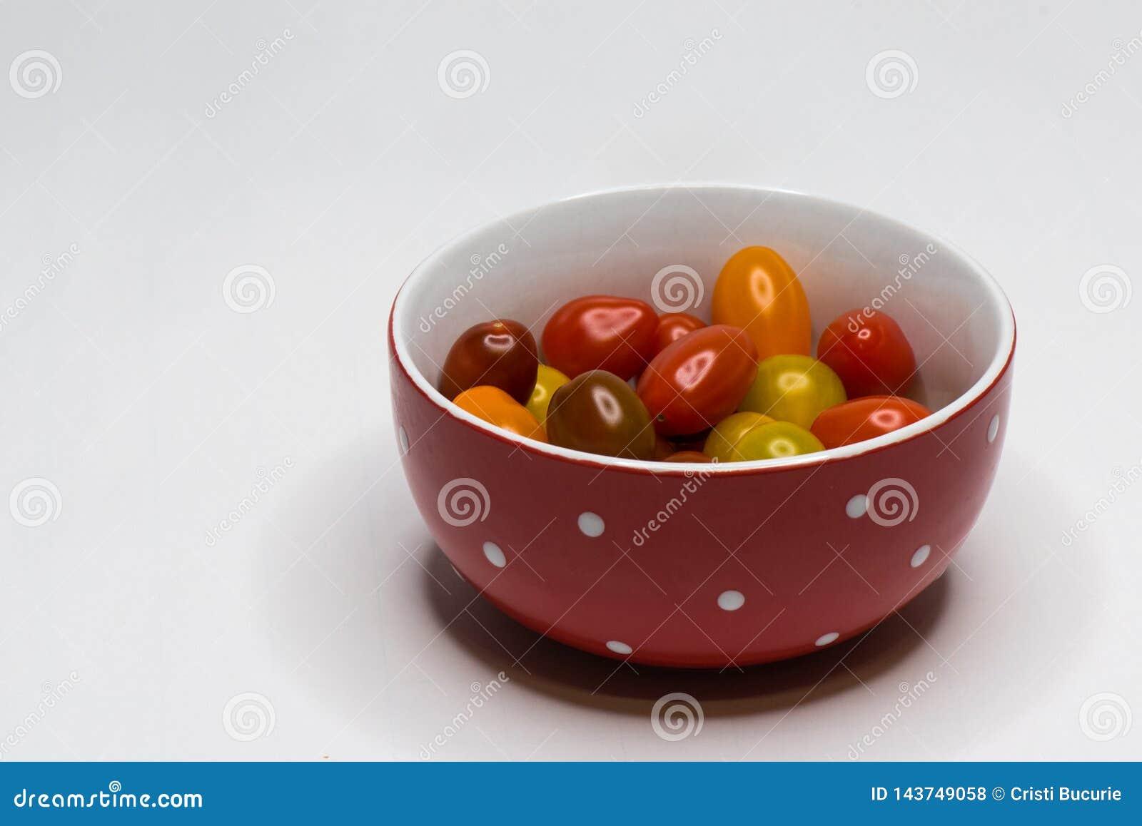 Farbiger Cherry Tomato Getrennt