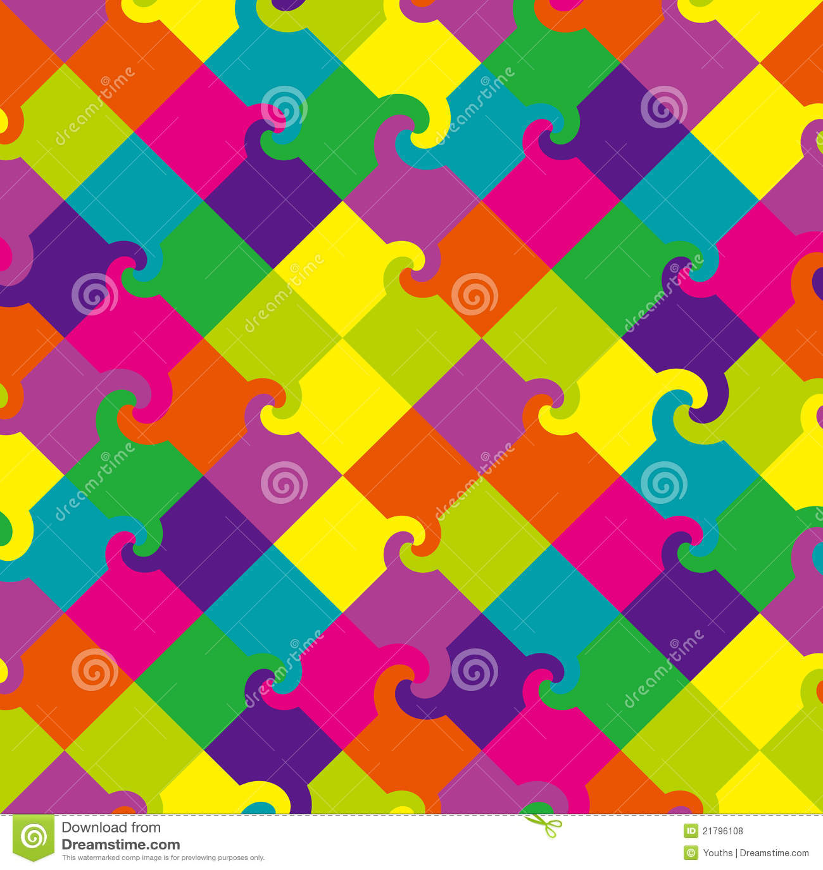 Farbiger Strudel quadriert Muster