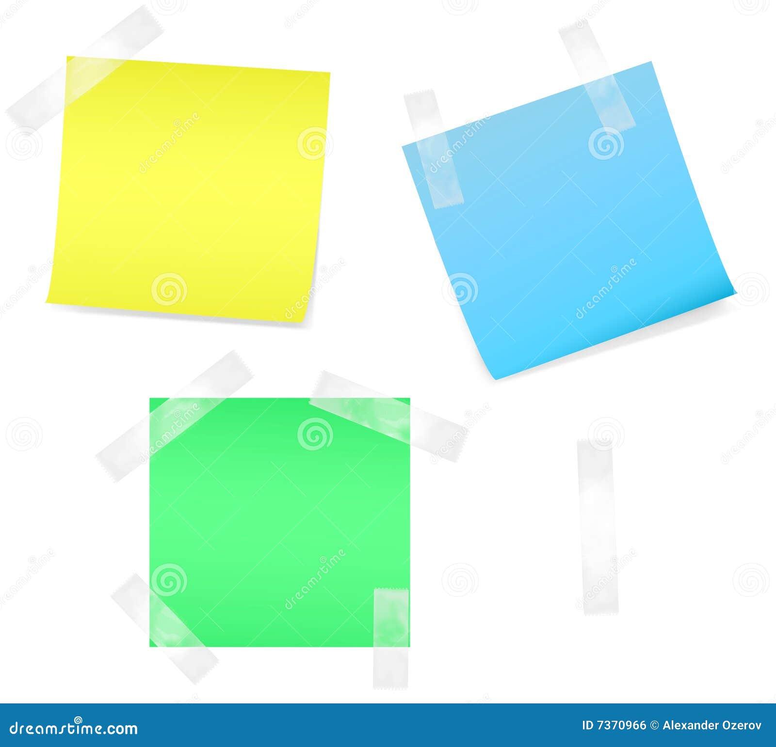 Farbiges Anmerkungspapier