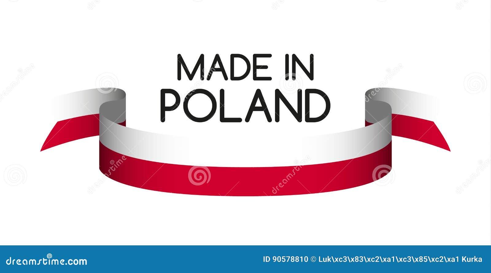 Farbiges Band In Den Farben Des Polnischen, Hergestellt In Polen ...