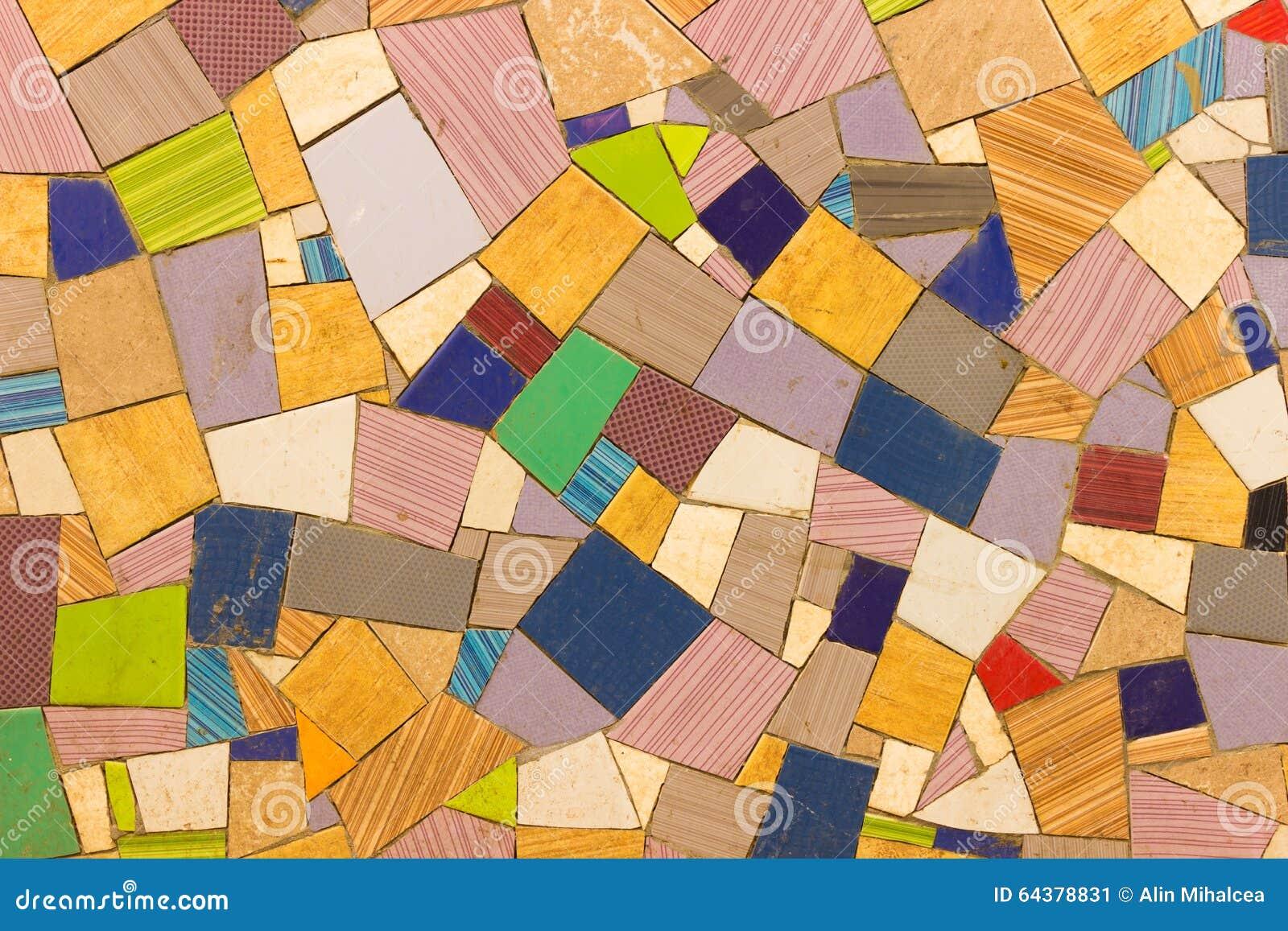 Farbiges Fliesen Mosaik Stockbild Bild Von Dekoration 64378831