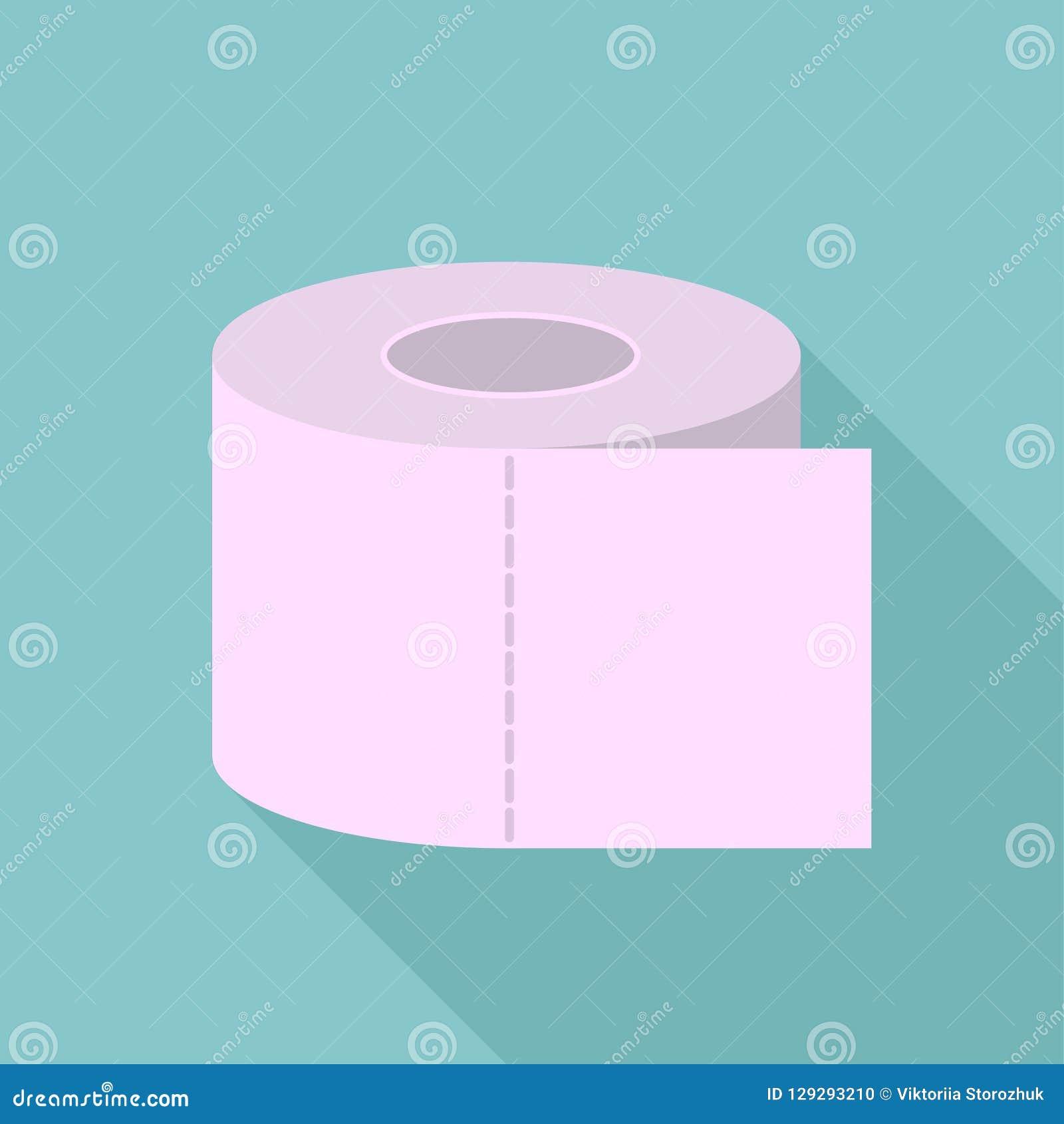 Farbiges Toilettenpapier, Toilettenpapier mit langem Schatten, Toilettenpapierlogo