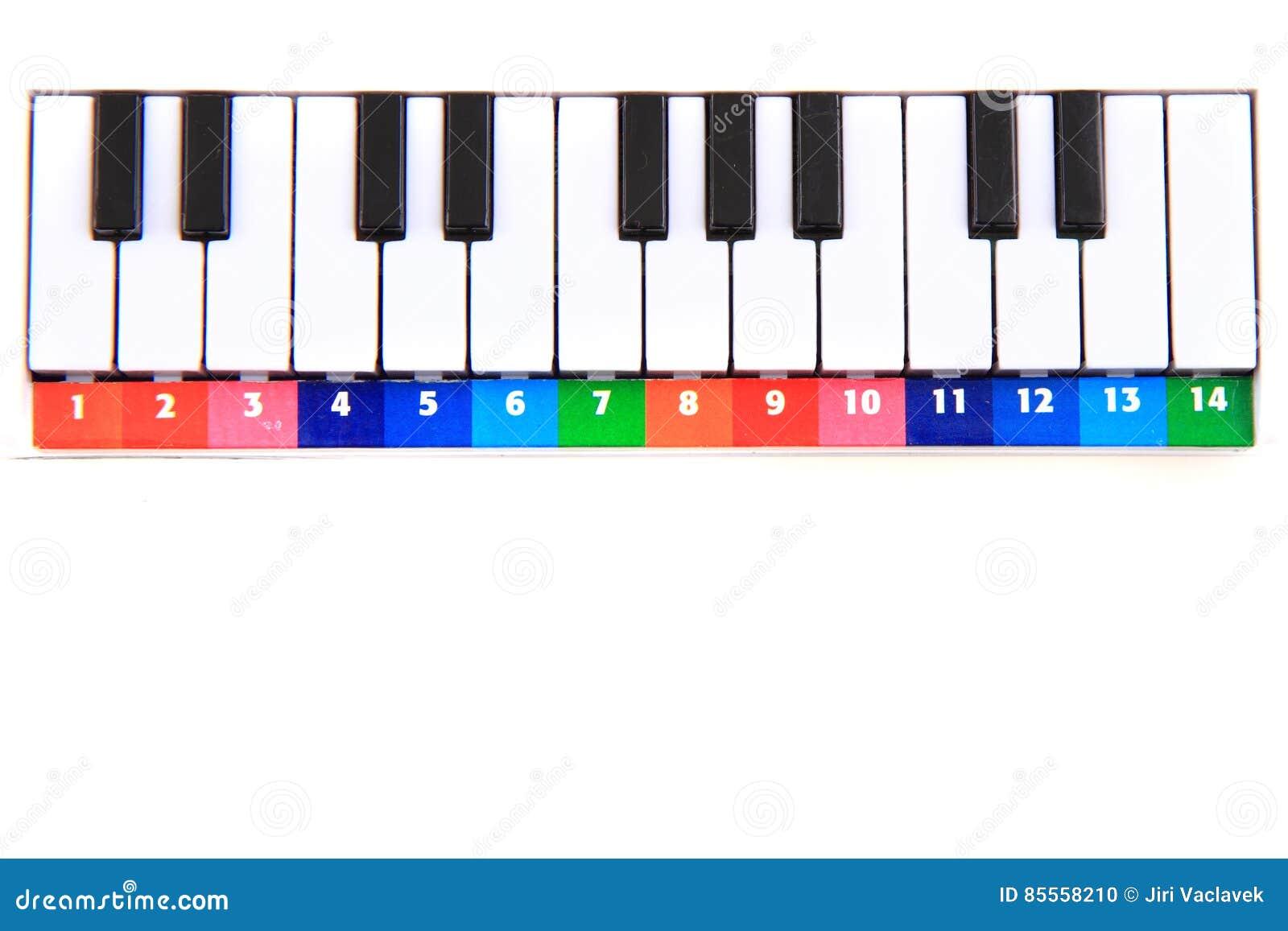 Farbklavierspielzeug